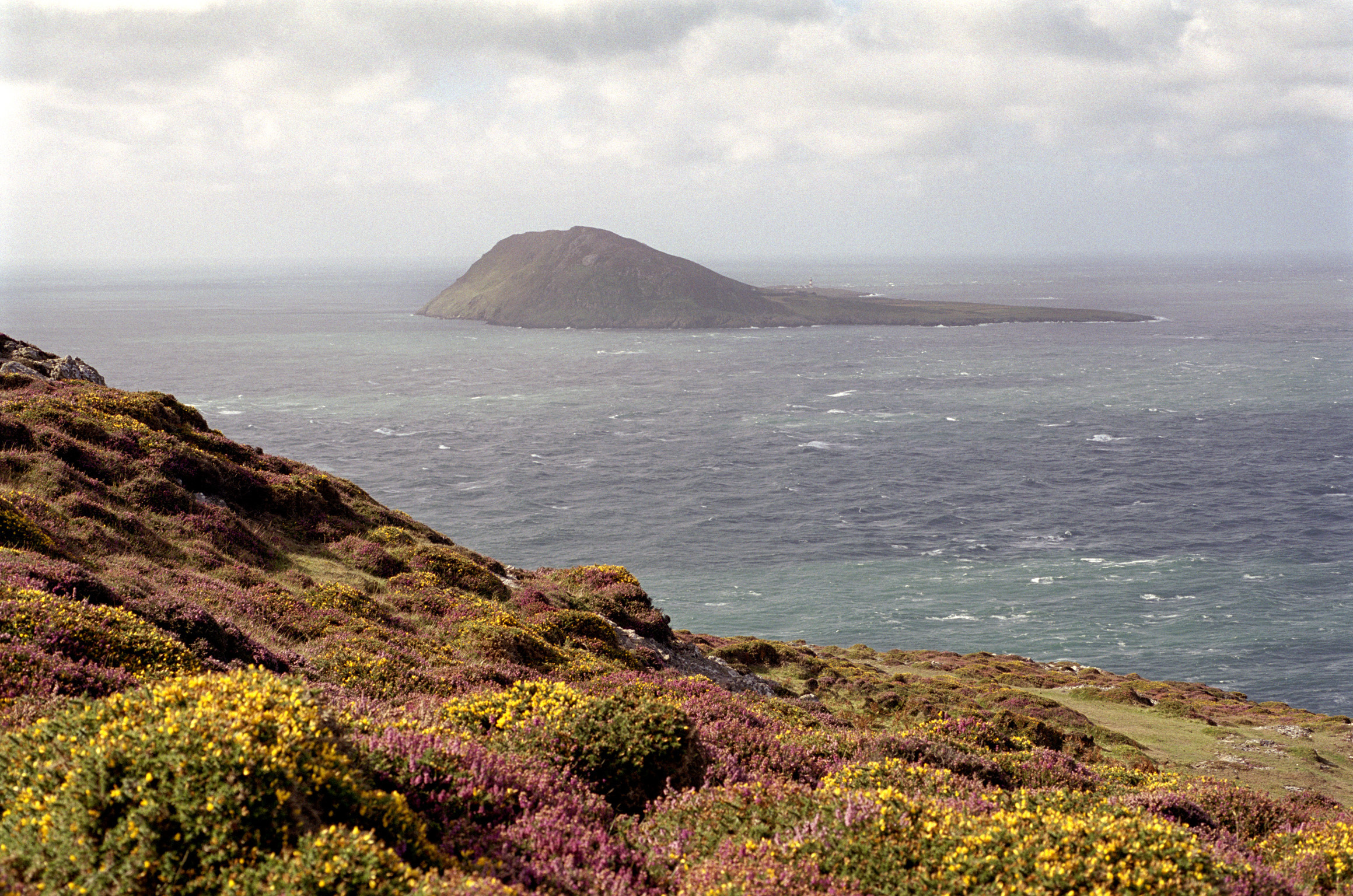 Bardsey Island off the Llyn Peninsula, Gwynedd, Wales, an important religious pilgrimage destination since medieval times with an early monastery