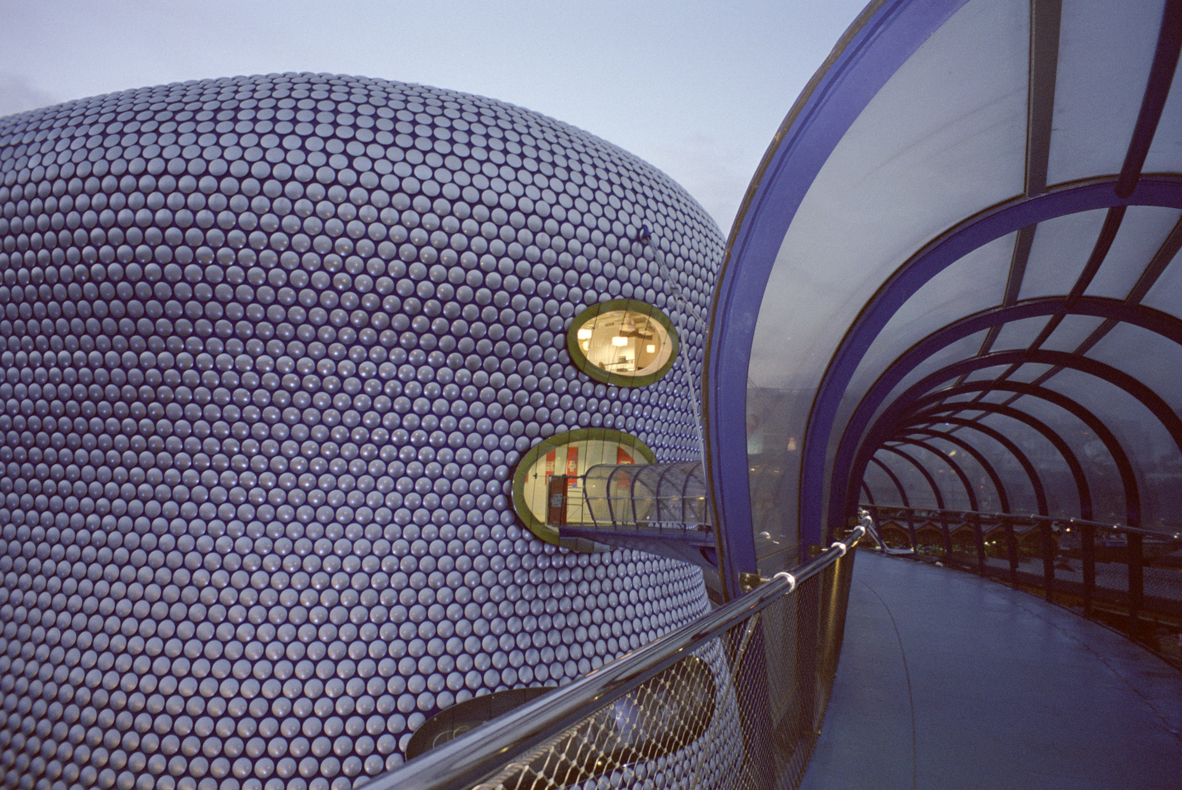Landmark Selfridges Foot Bridge at Bullring, Birmingham. Part of Bullring Shopping Center.