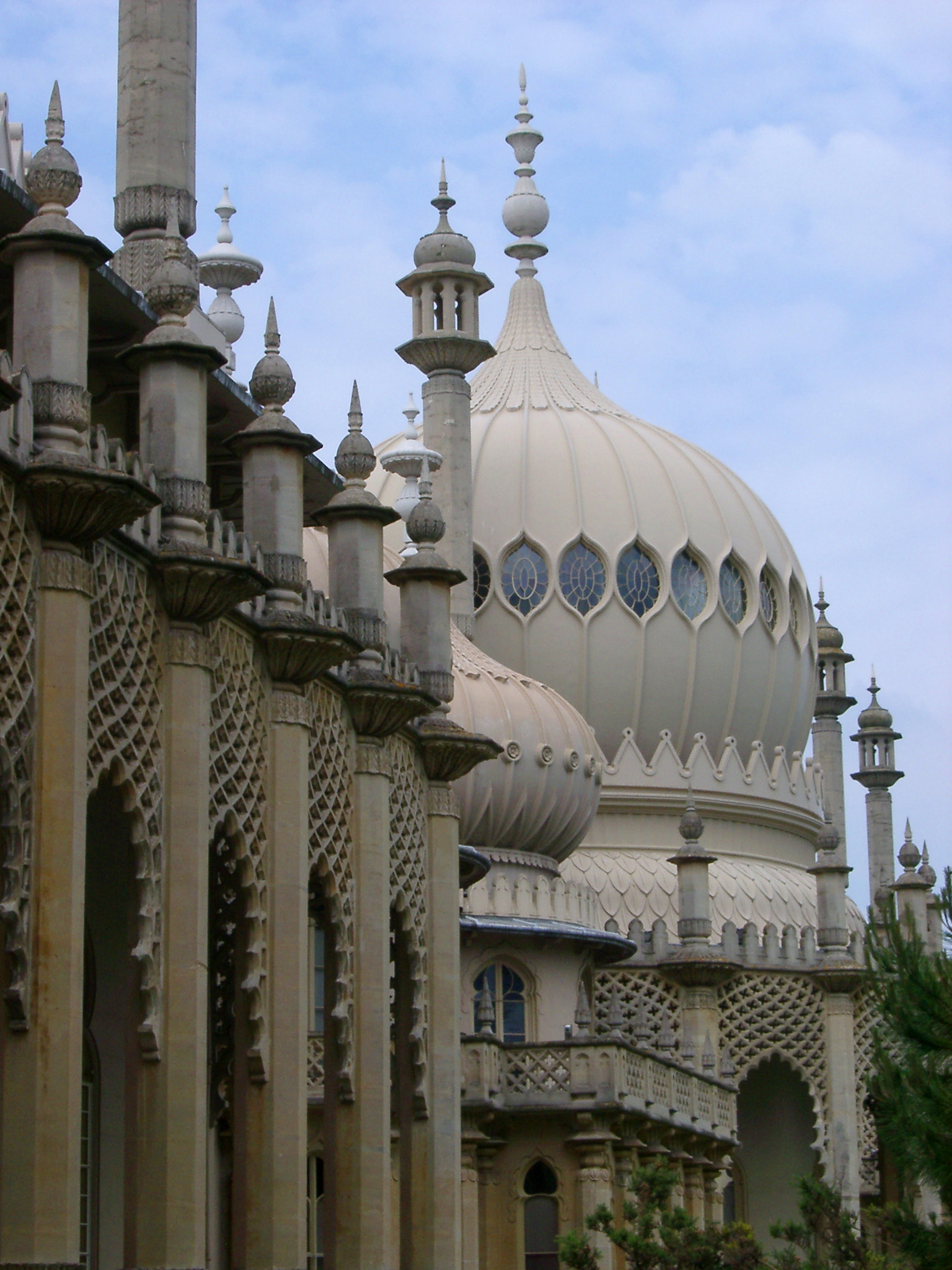 Architectural Detail of Dome and Exterior of Royal Pavilion, Brighton, England