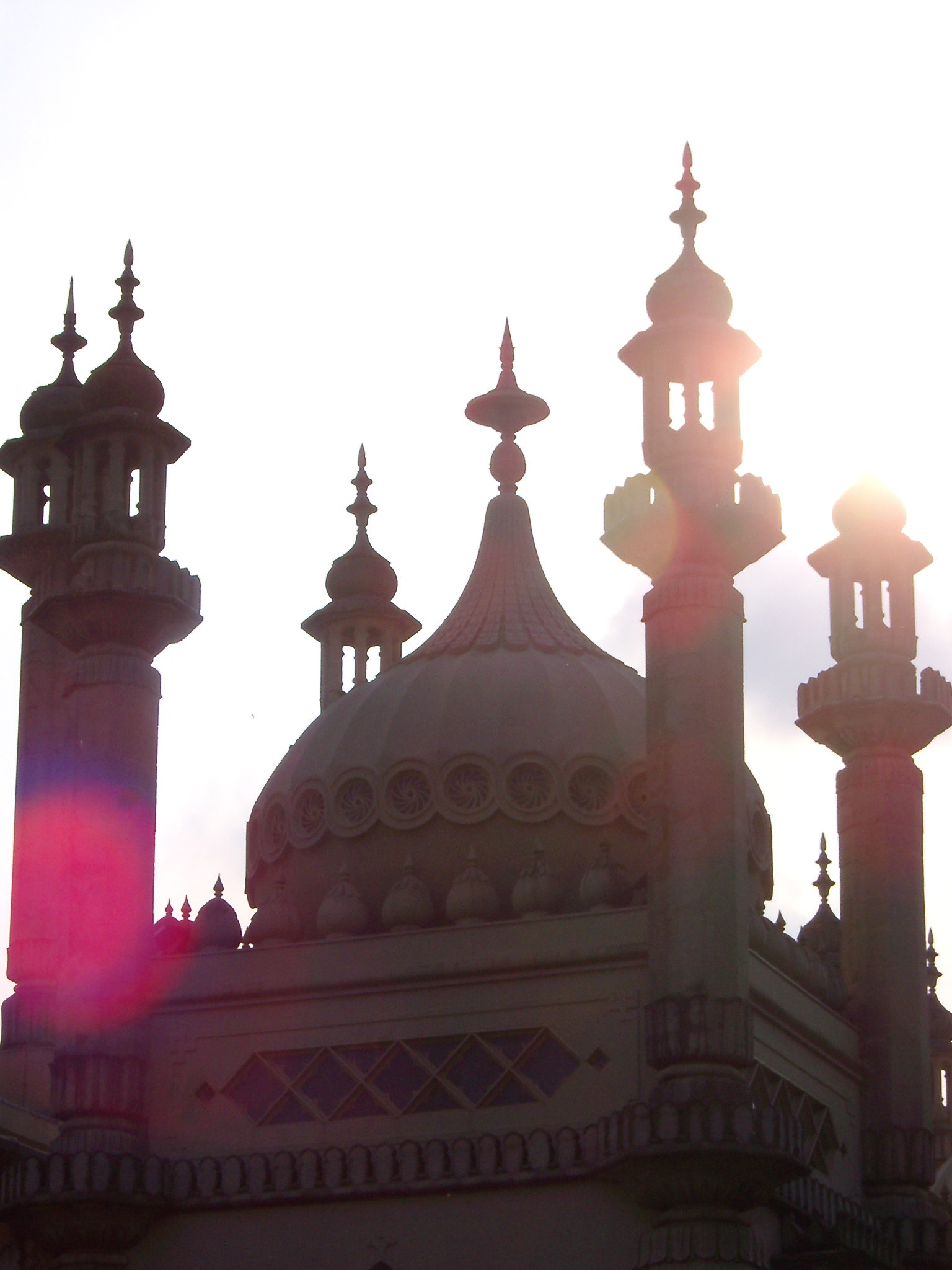 Close Up of Royal Pavilion Backlit by Bright Sun, Brighton, England
