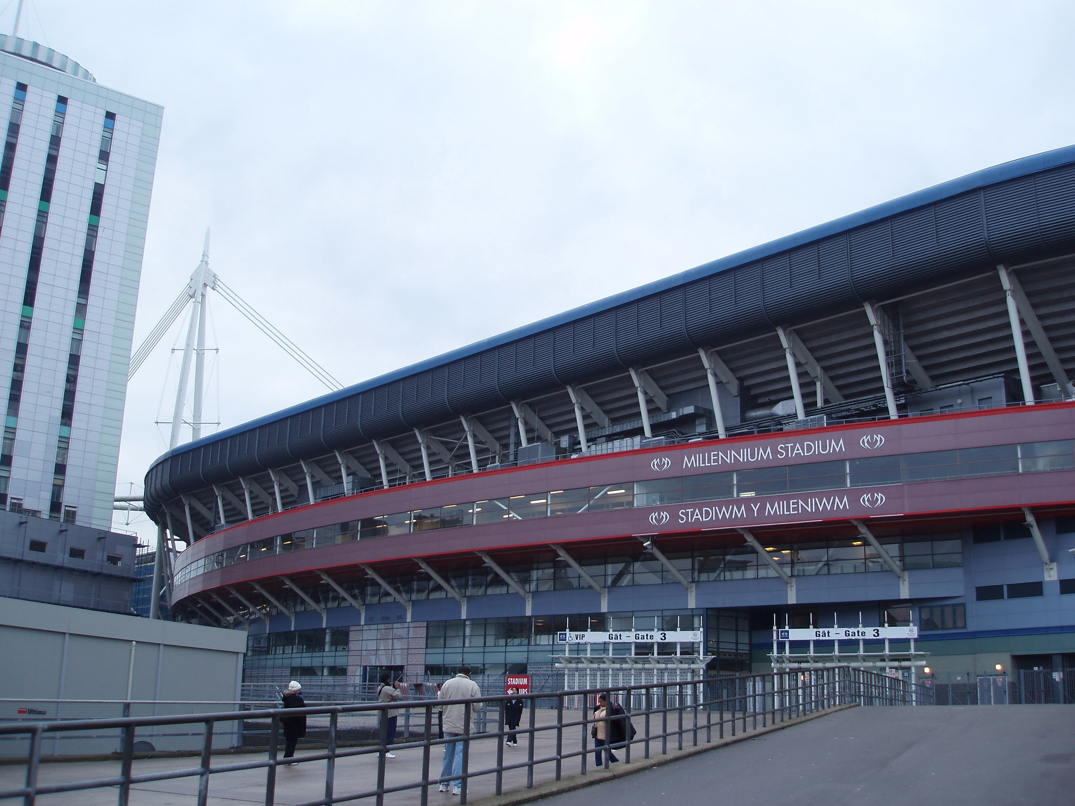 Millennium Stadium Building in Cardiff, Wales. The Home of Wales National Rugby Union Team.