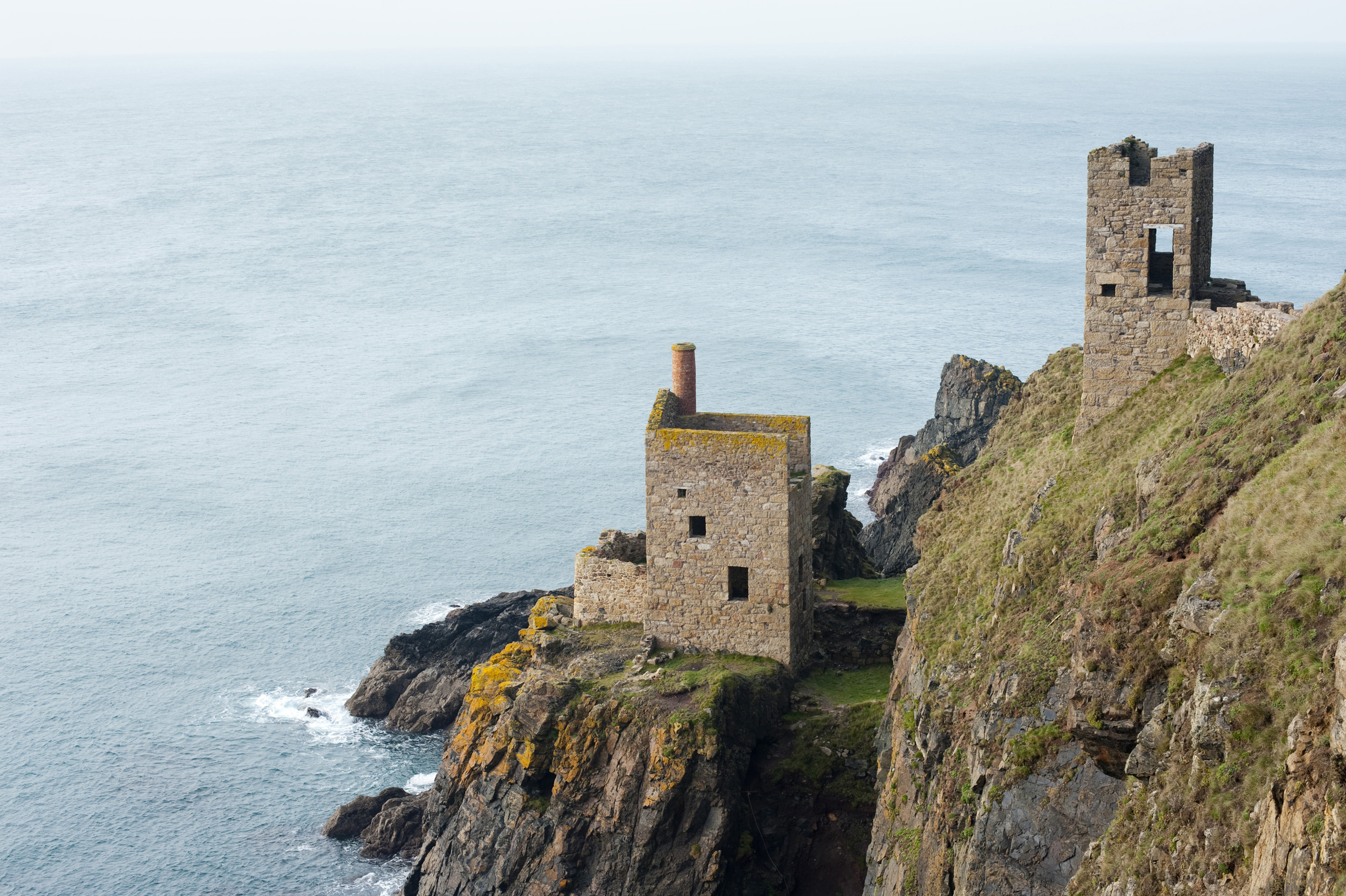 Remans of the crown mine at Botallack, Part of the Cornwall Mining Landscape World Heritage Site