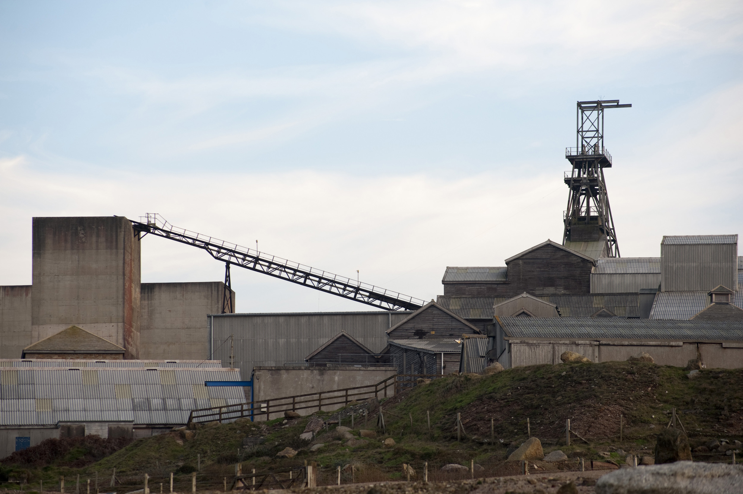 Buildings at the The Geevor Tin Mine working museum
