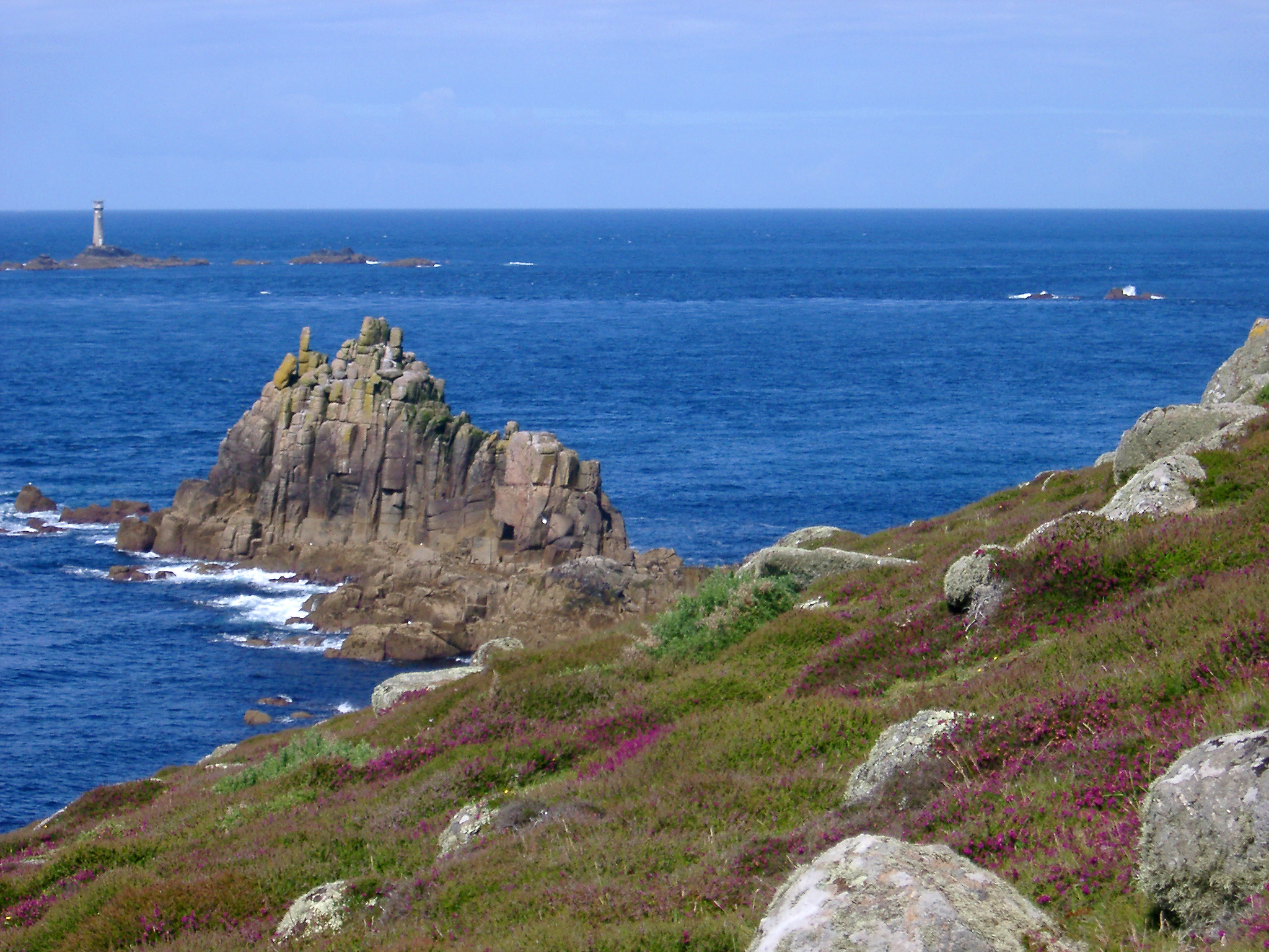 rocks and the longships lighthouse off lands end, cornwall