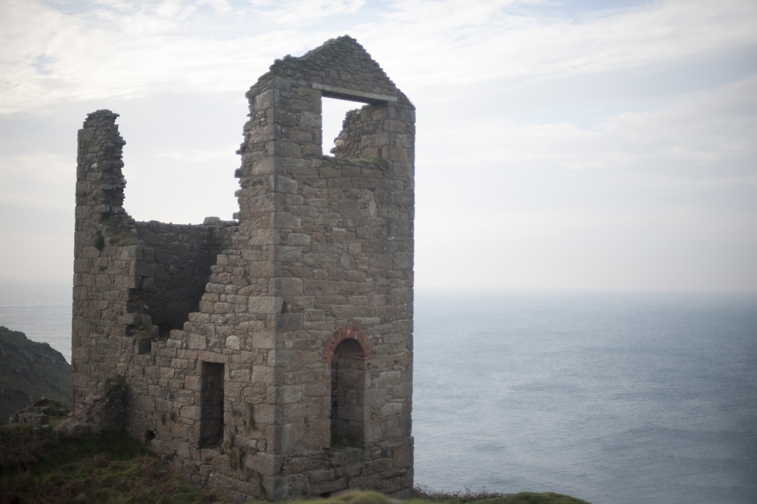 Ruins of a mine at Botallack on the cornish atlantic coast