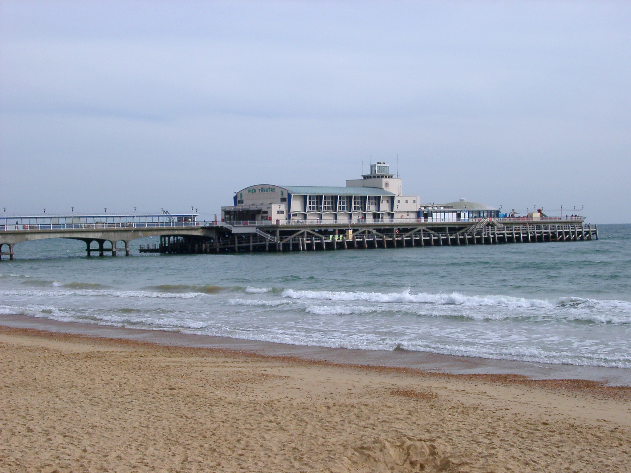 bournemouths victorian pier with 1950's theatre buildings