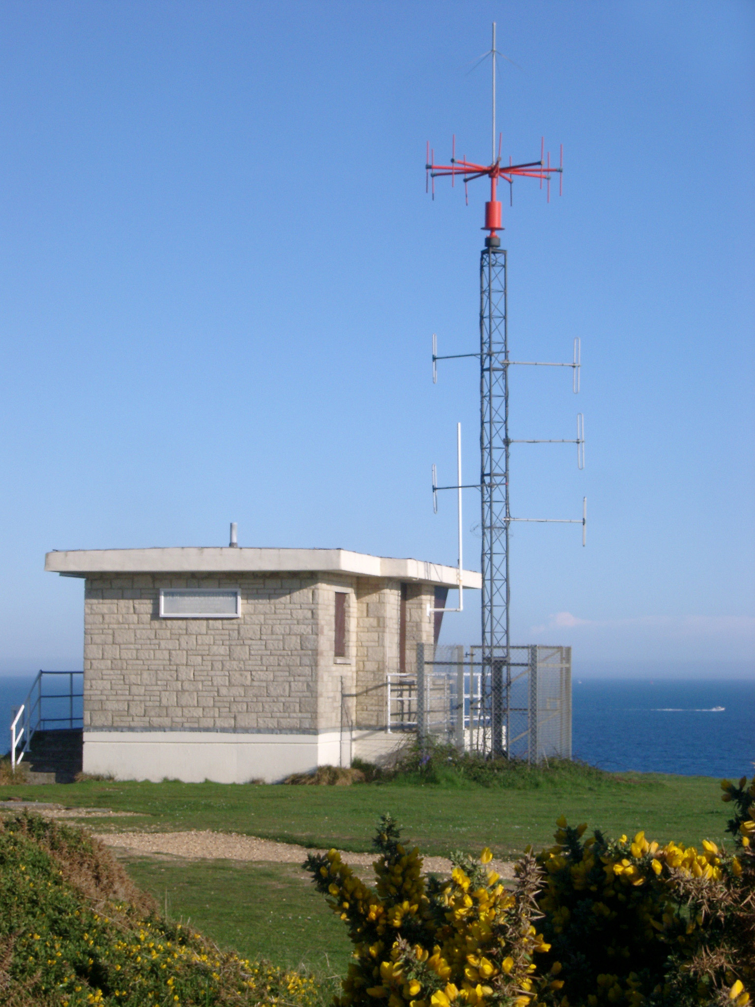 coastguard cliff top watch station near christchurch, dorset