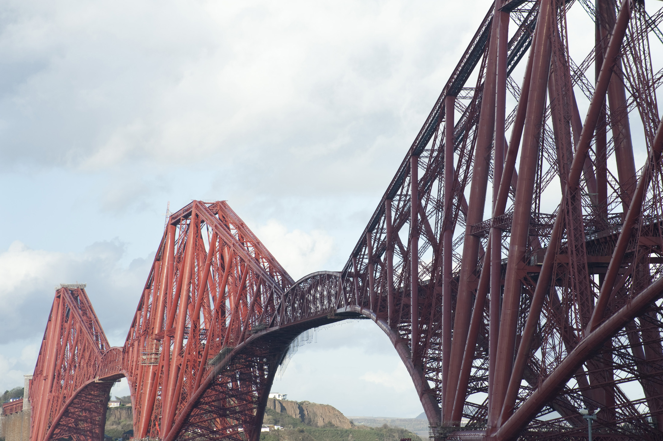 Famous Cantilever bridge crossing the firth of forth, Scotland