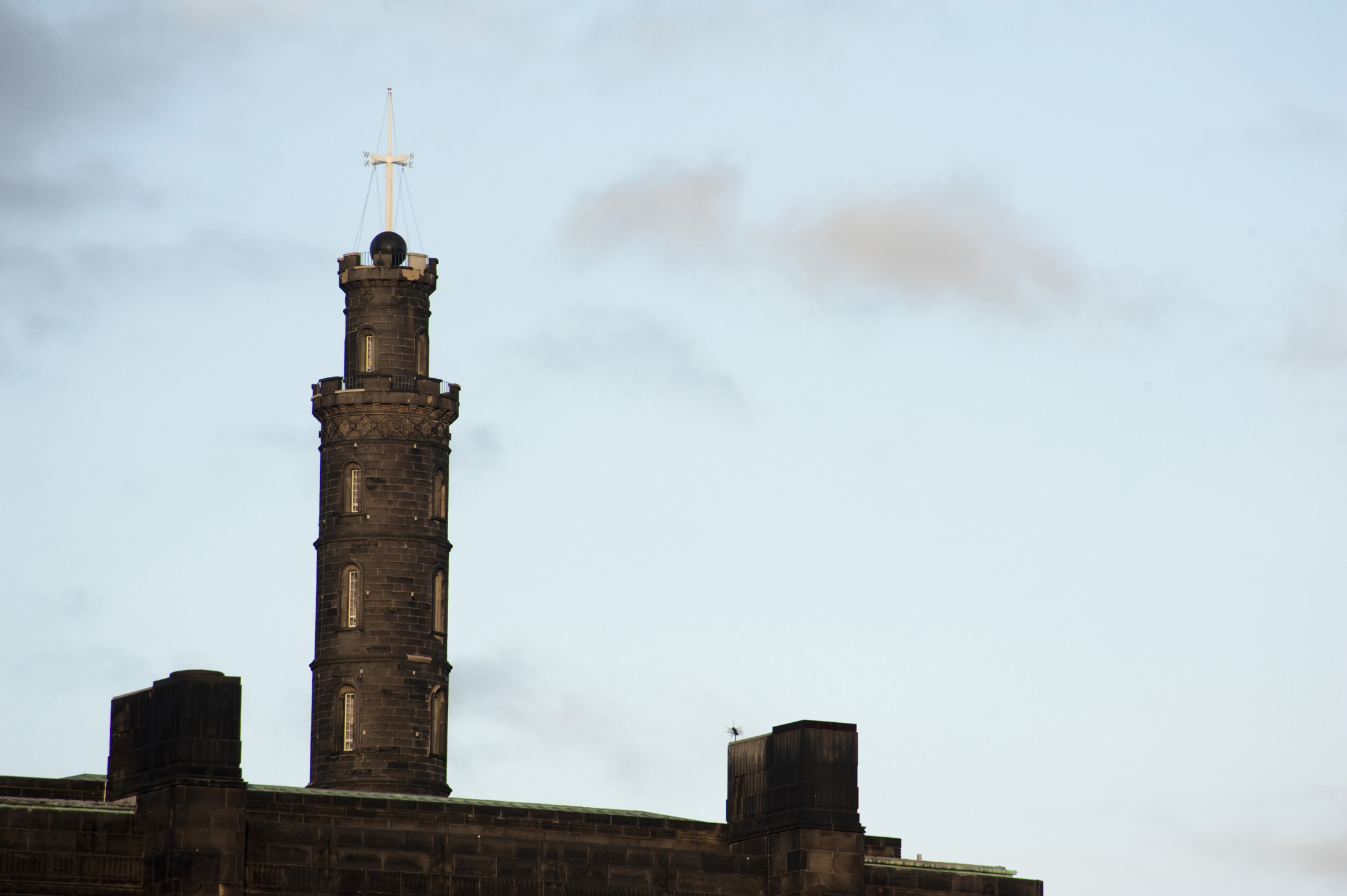 commemorative tower built in honour of Vice Admiral Horatio Nelson, on top of Calton Hill, Edinburgh