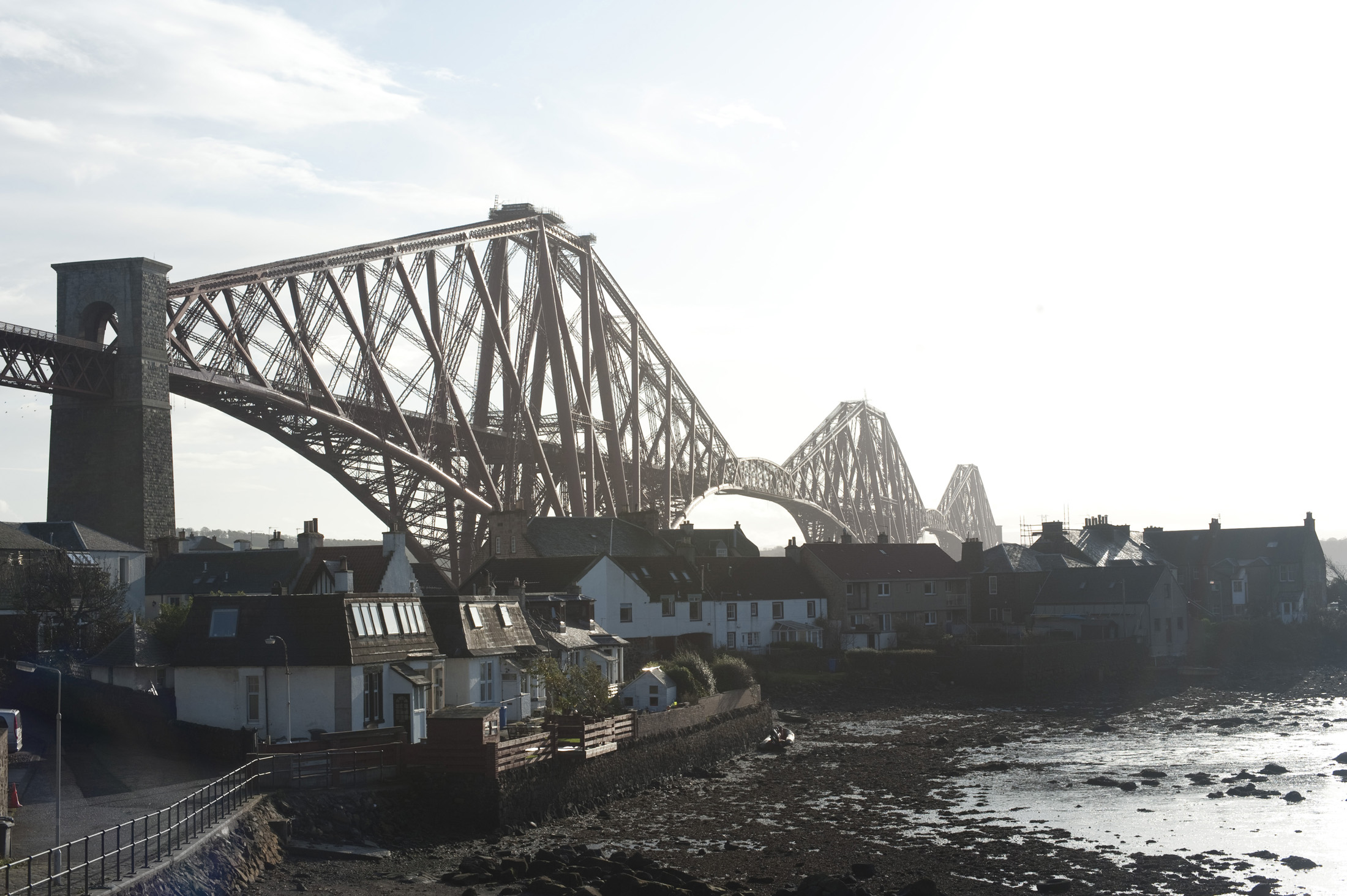small settlement of north queensferry dominated by the structure of the forth rail bridge