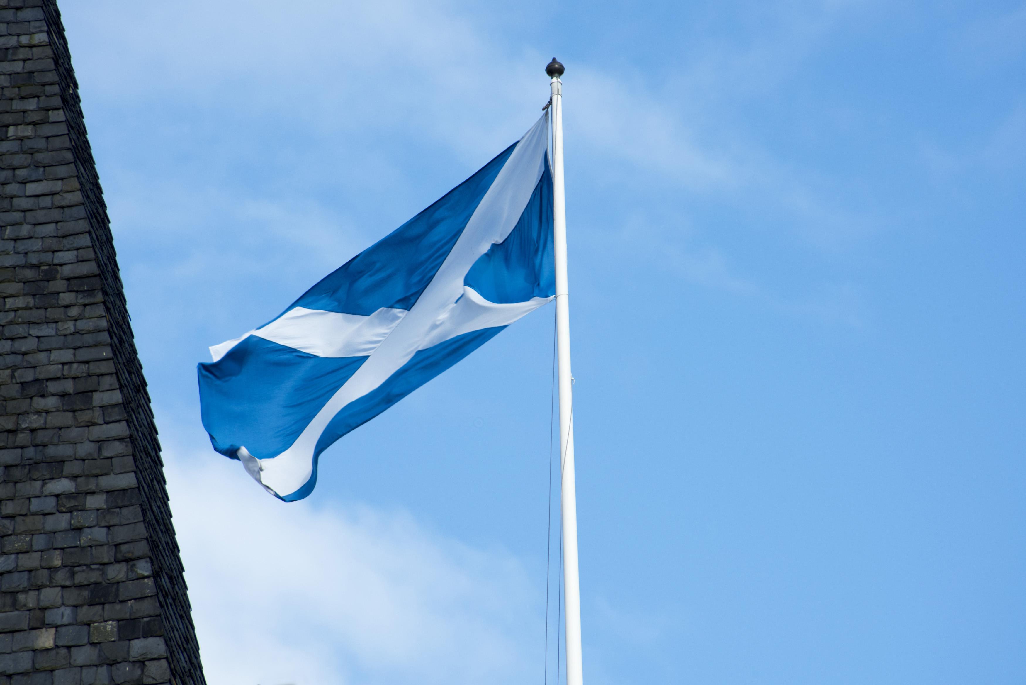 Free Stock Photo Of Scottish Flag Flying In St Andrews Scotland