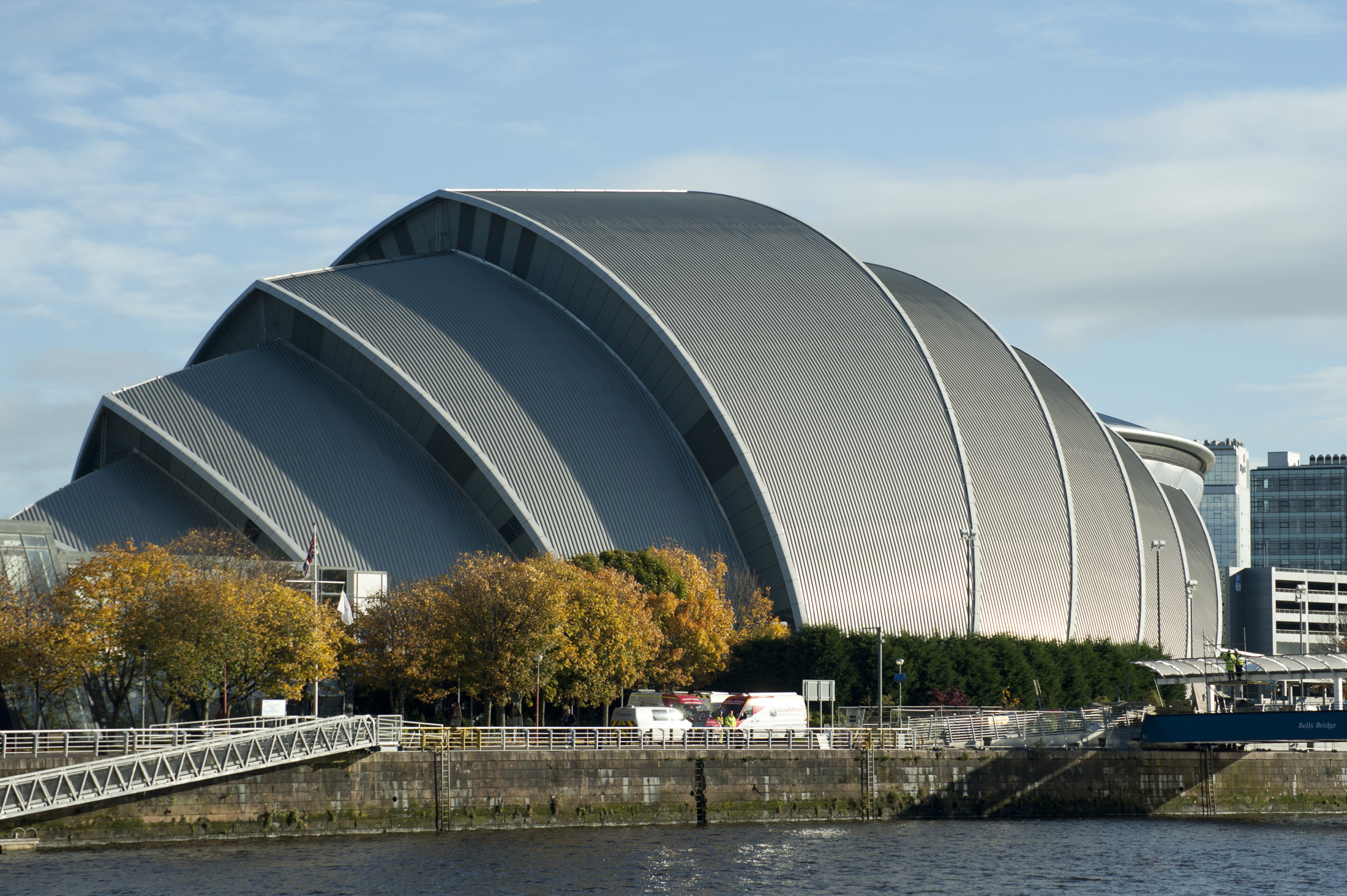 The Scottish Exhibition and Conference Centre, from Glasgow, UK, international modern location for public events, concerts and conferences