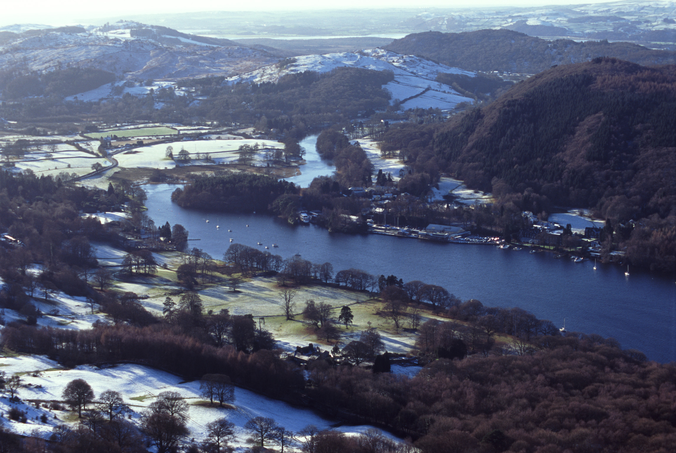 newby bridge and lake side on windermere