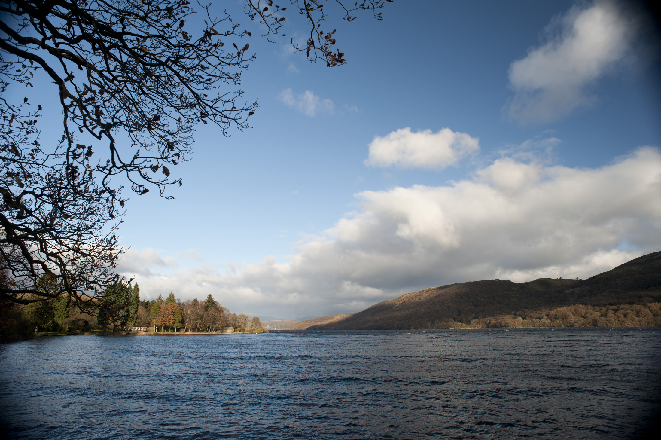 Scenic view of Consiton Water in Cumbria, the third largest lake in the English Lake District