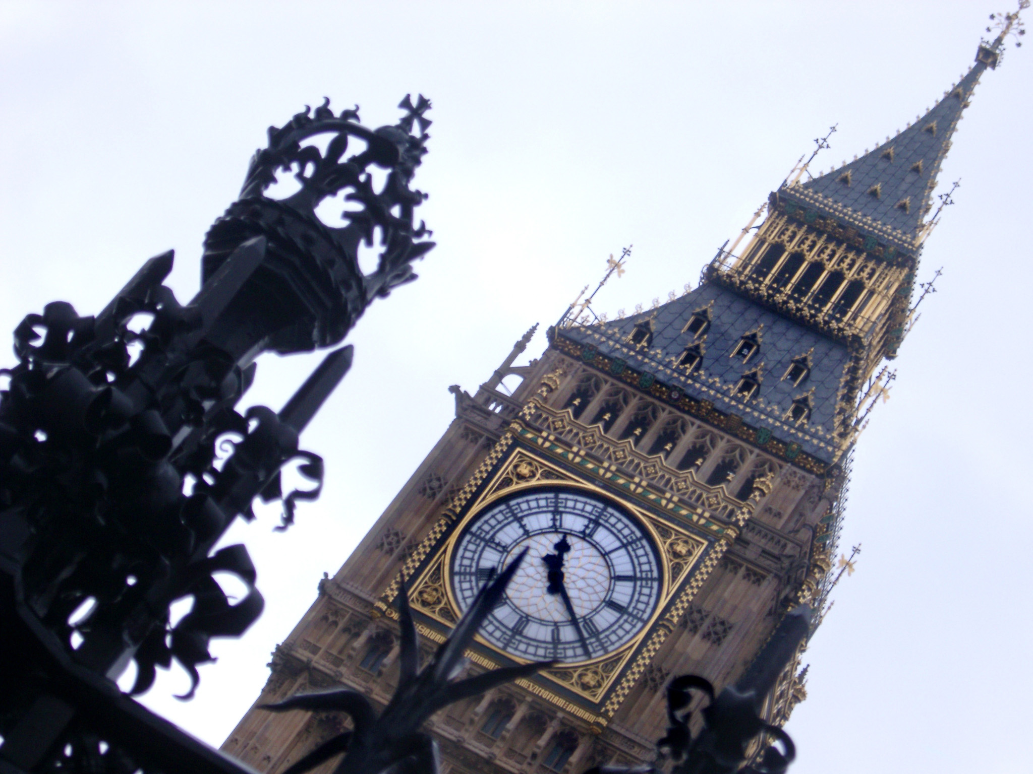 View of Big Ben or the Westminster Tower, the original clock tower of the old Palace of Westminster and now an iconic tourist attraction