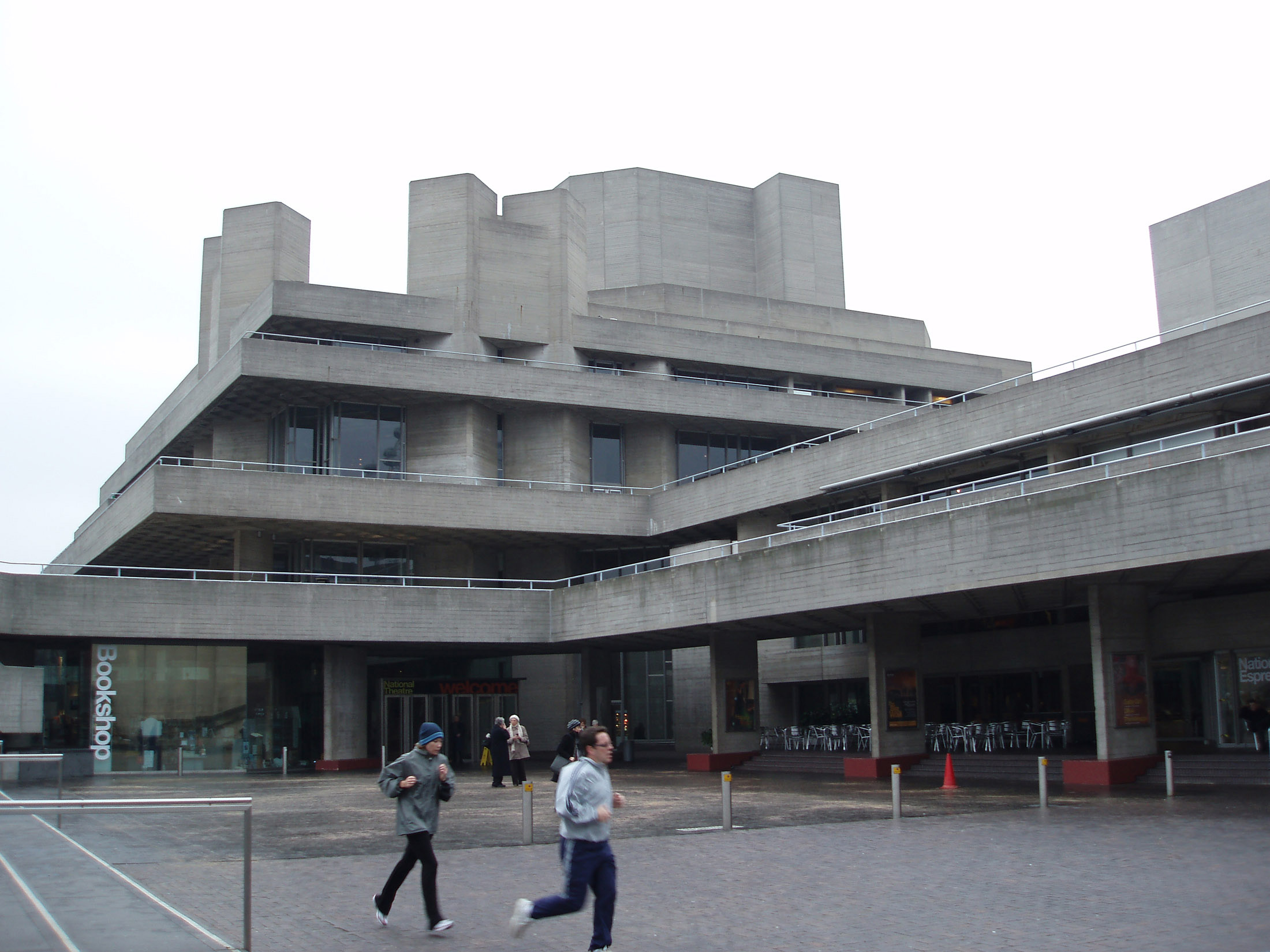 Royal National Theatre Building in London. It is also known as the National Theatre of Great Britain.