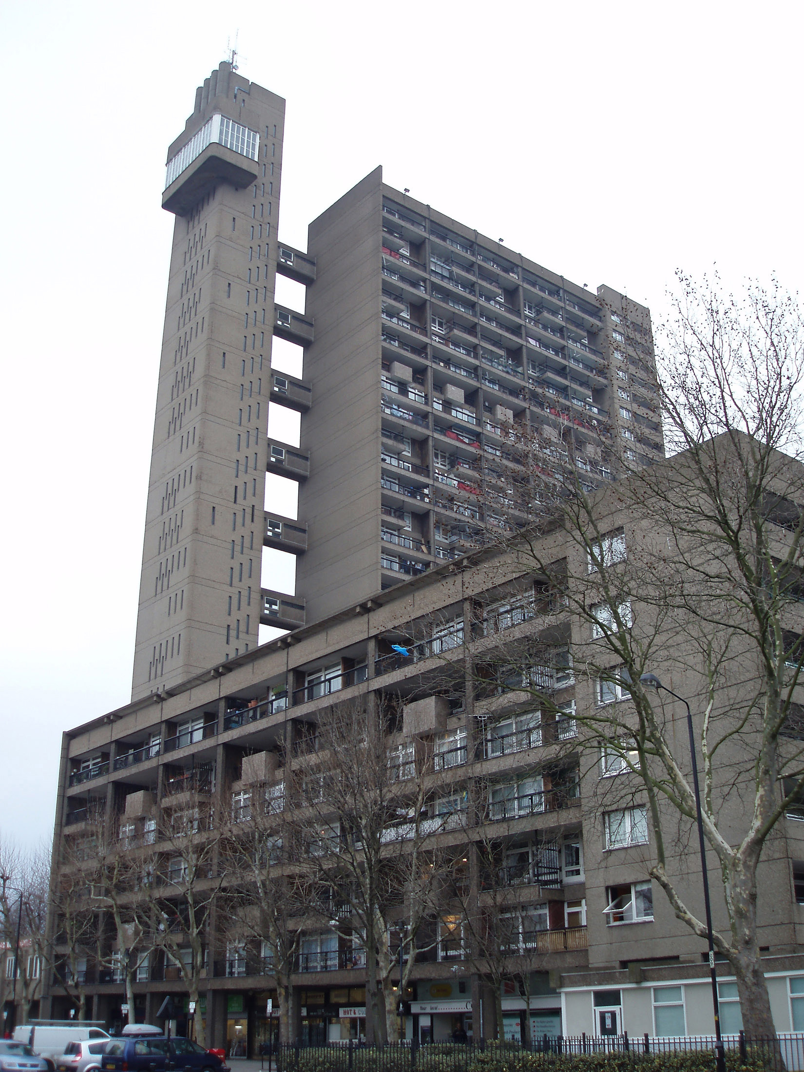 Trellick Tower Building in North Kensington, Royal Borough of Kensington and Chelsea, London, England.