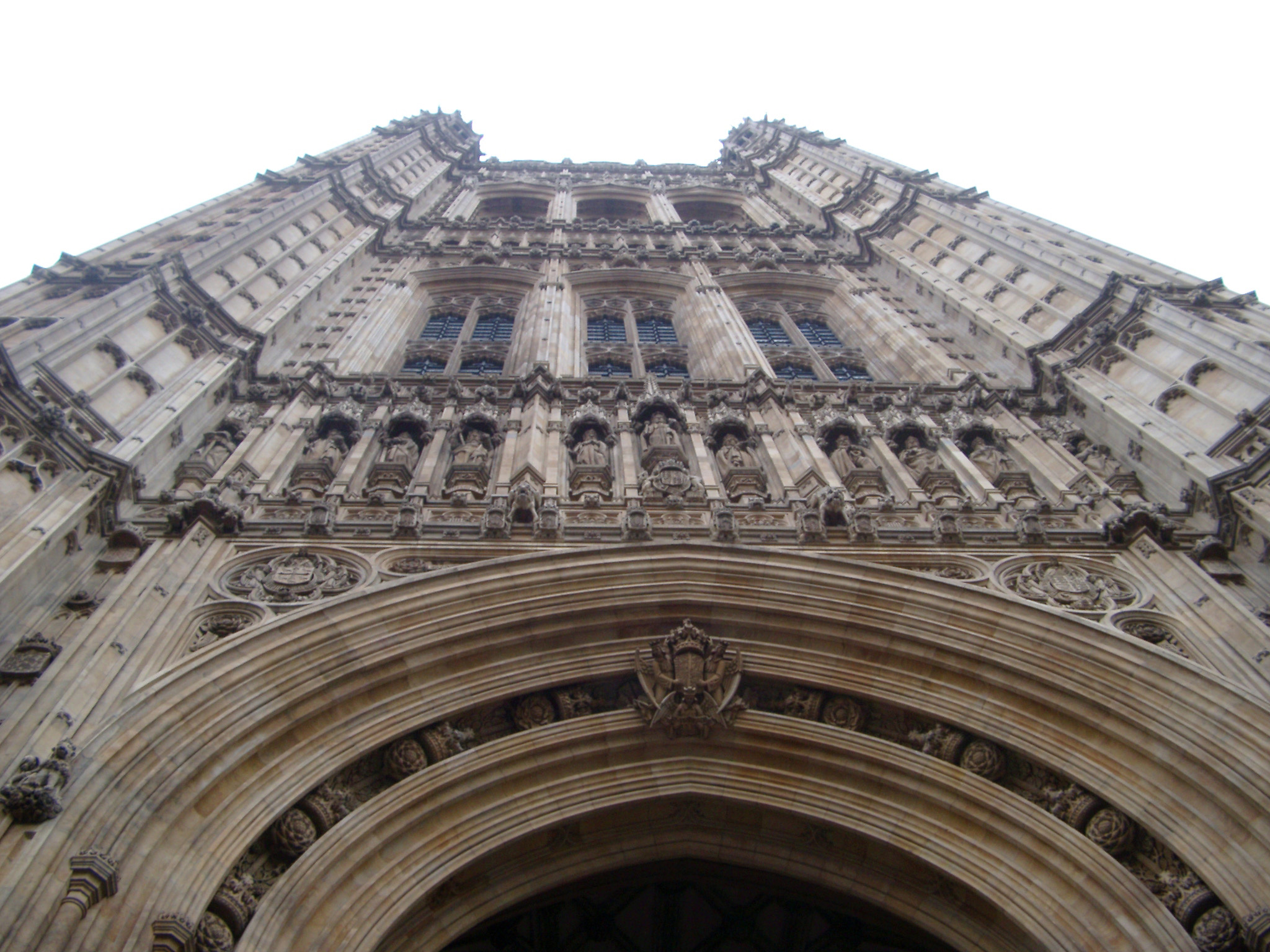 Low angle view of the victoria tower, palace of westminster, london, the seat of the UK government