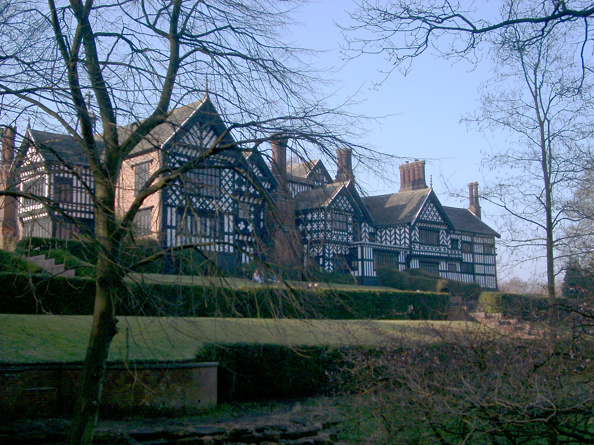 Historic House of Bramall Hall, a Tudor Manor House in Bramhall, Greater Manchester, England