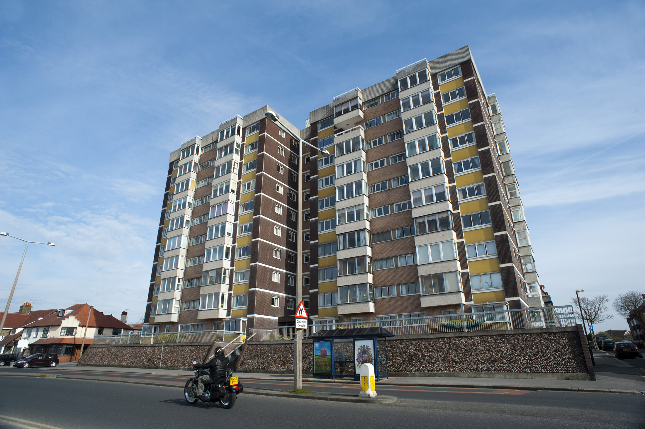 a block of flats of morcambe seafront