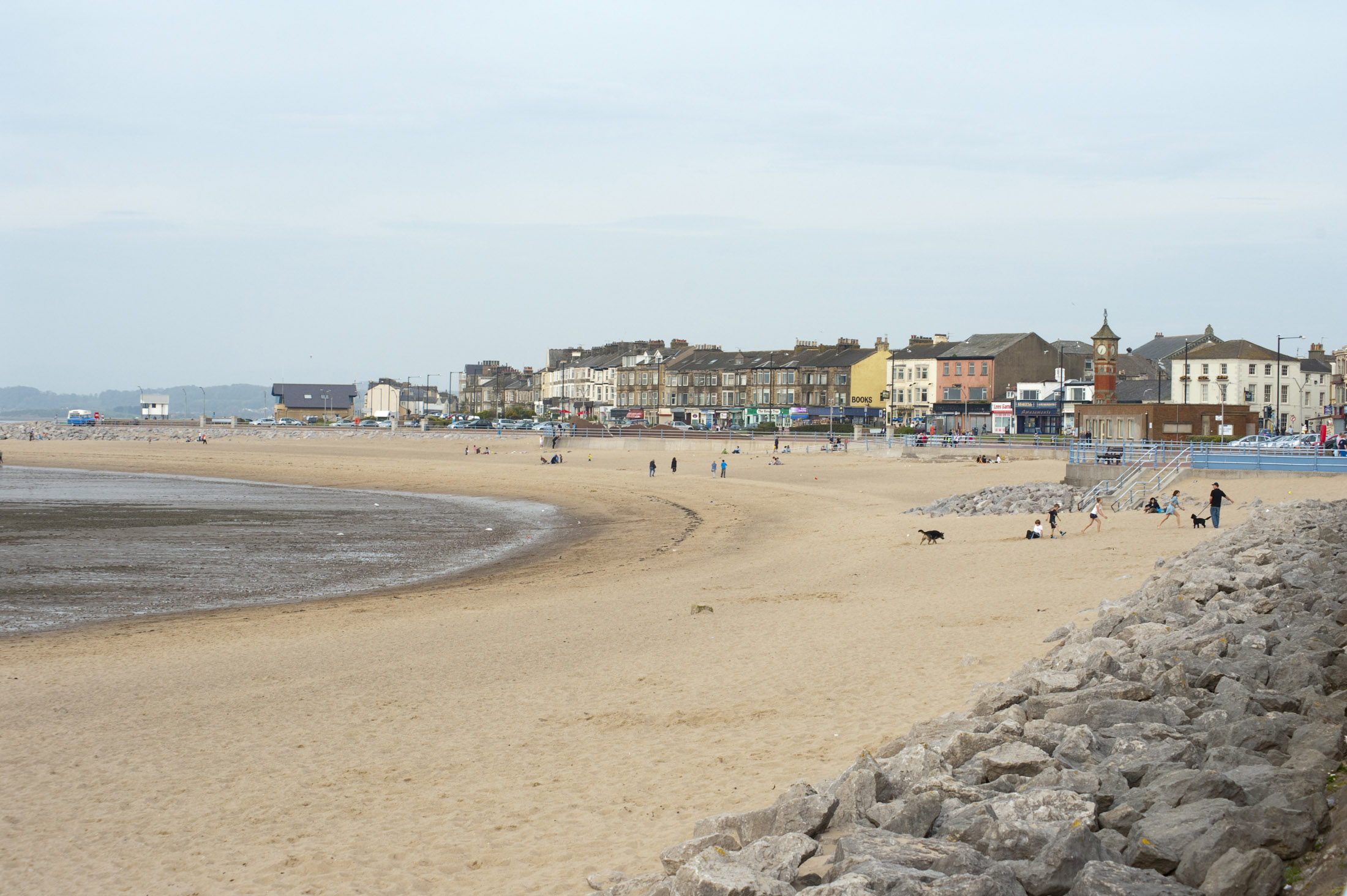 morecambe beach with the tide out