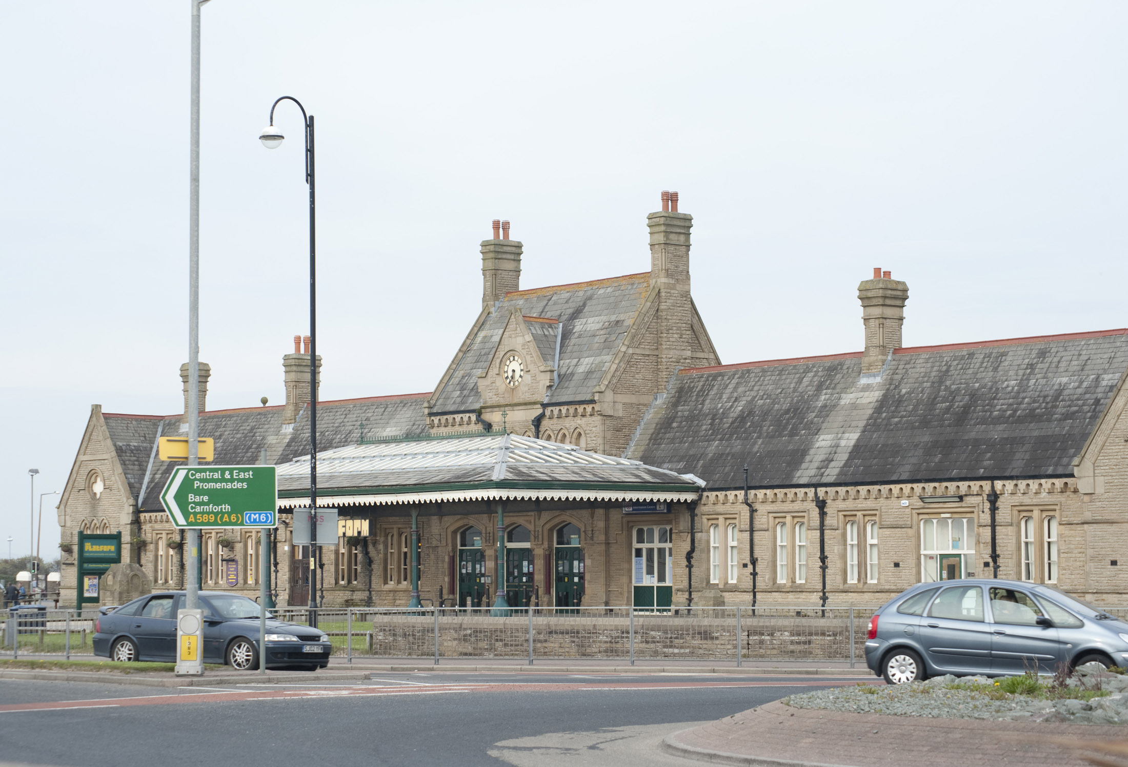 in order to thwart the few remaining tourists who persited in visiting morecambe the promenade railway station was closed in 1994, ironically the tourist information centre is still housed in the old station building.