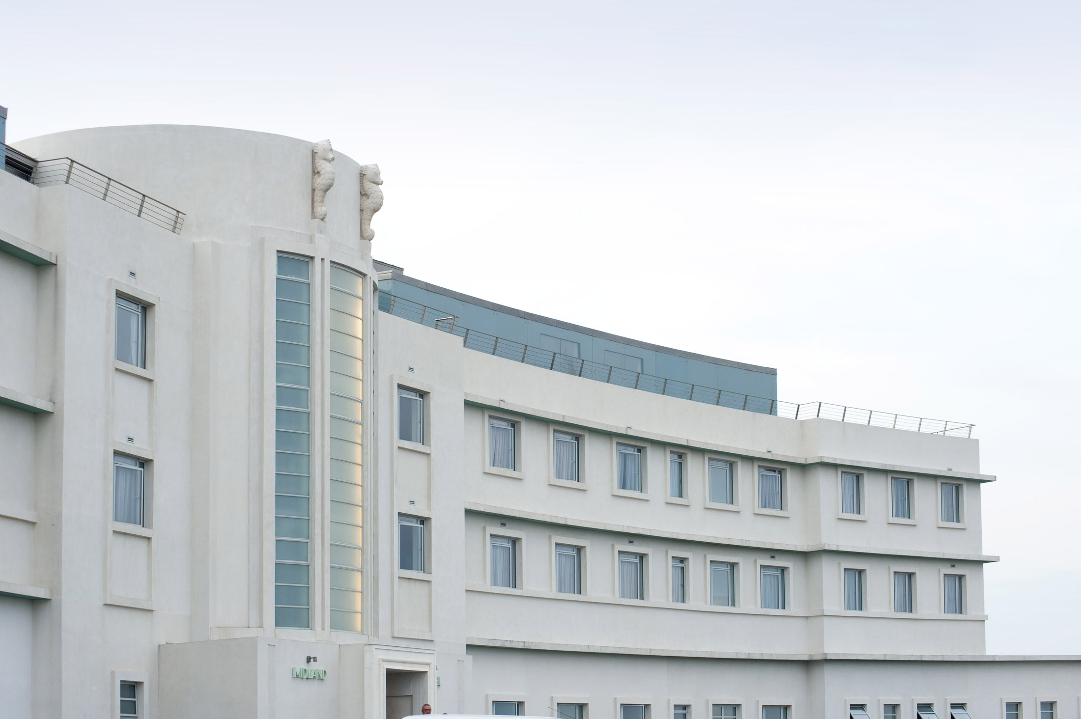 the midland hotel on morecambe sea front following its 2008 renovation