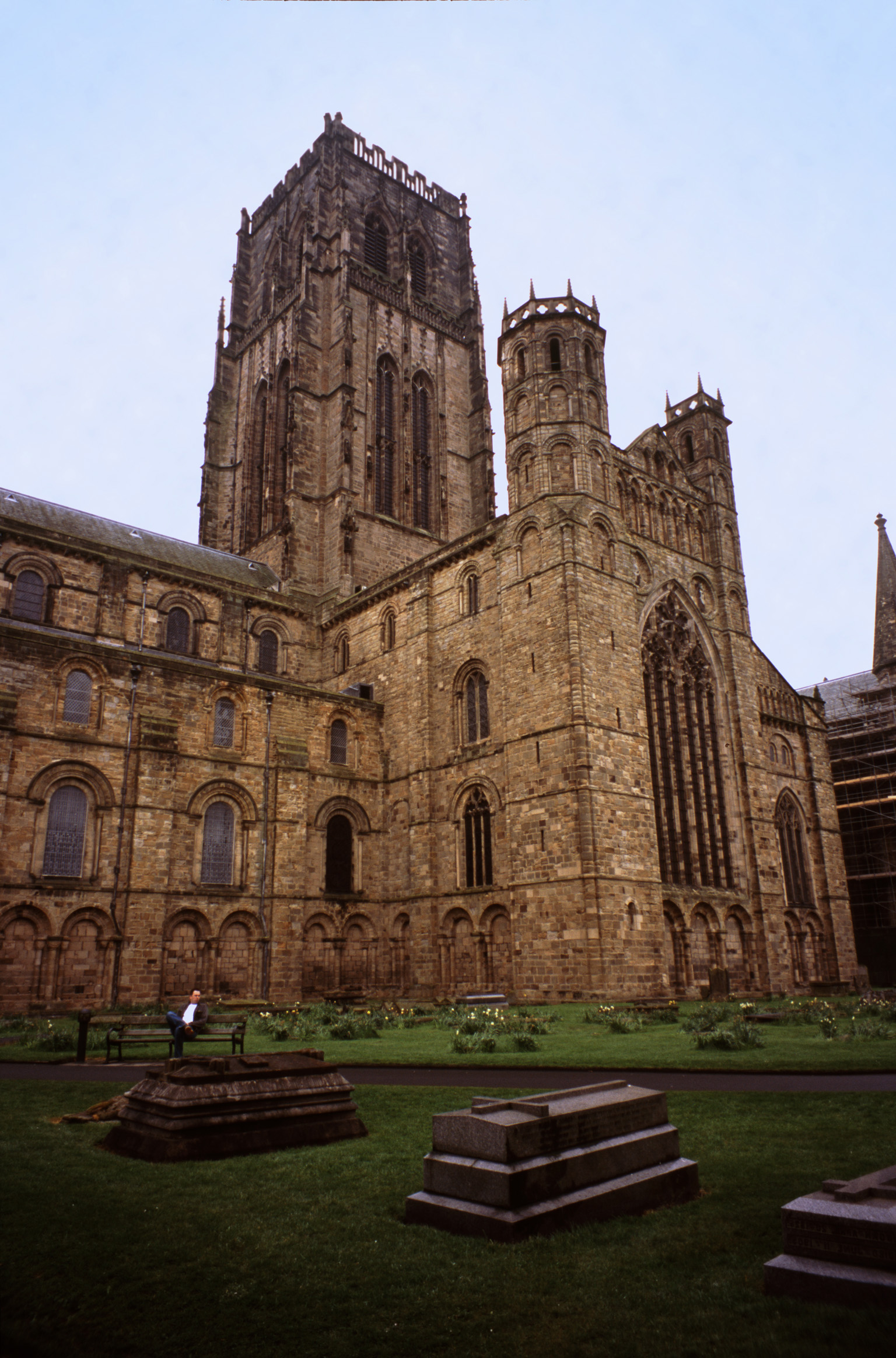view of the tower and trancept of durham cathedral