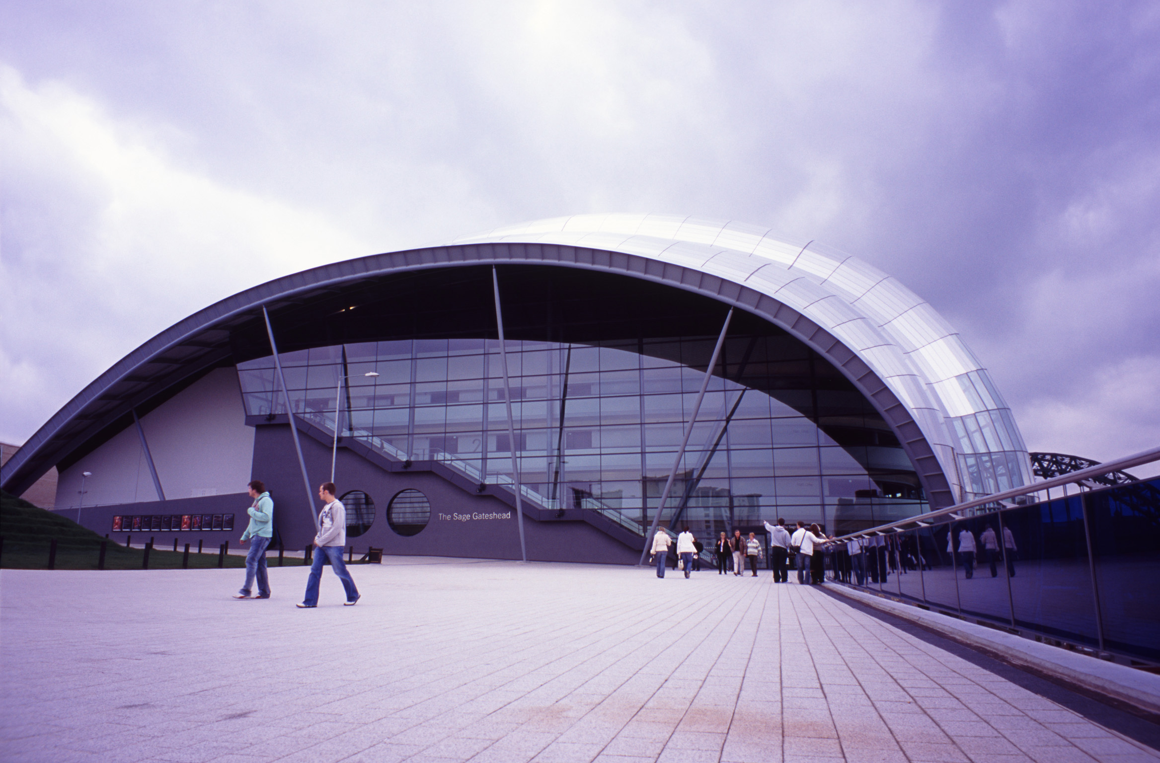 Exterior View of The Sage Building in Gateshead, England. A concert venue and also a centre for musical education.
