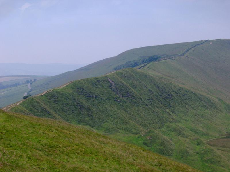 free stock photo of famous mam tor hills in manchester
