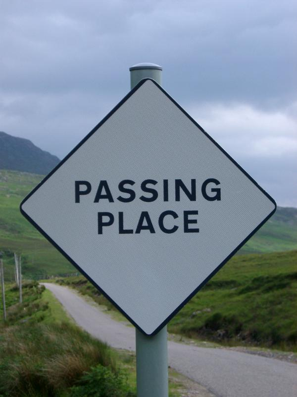 Free Stock Photo Of Passing Place Roadsign In Scotland