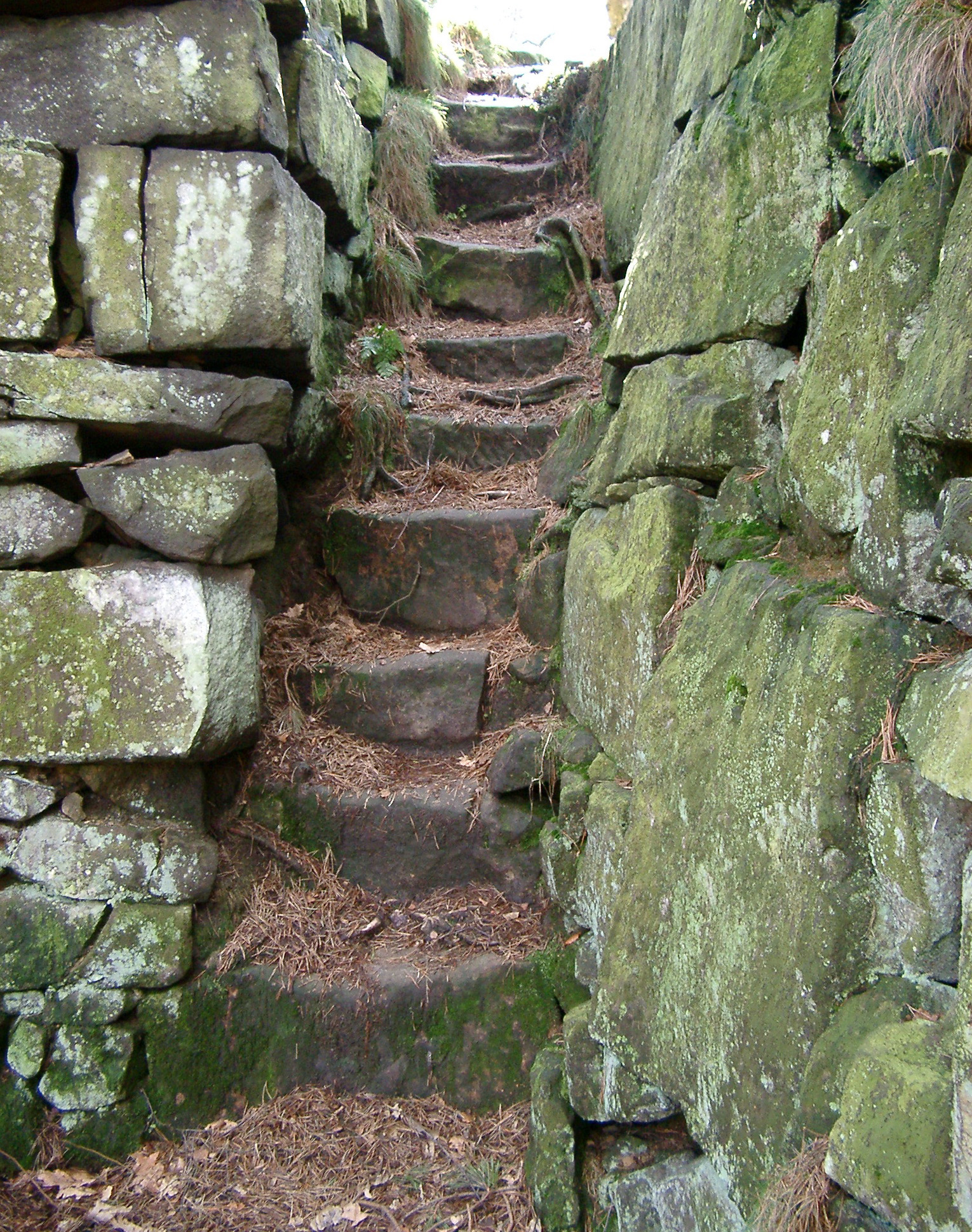 Natural Stone Stairs : Free stock photo of old narrow natural stone steps