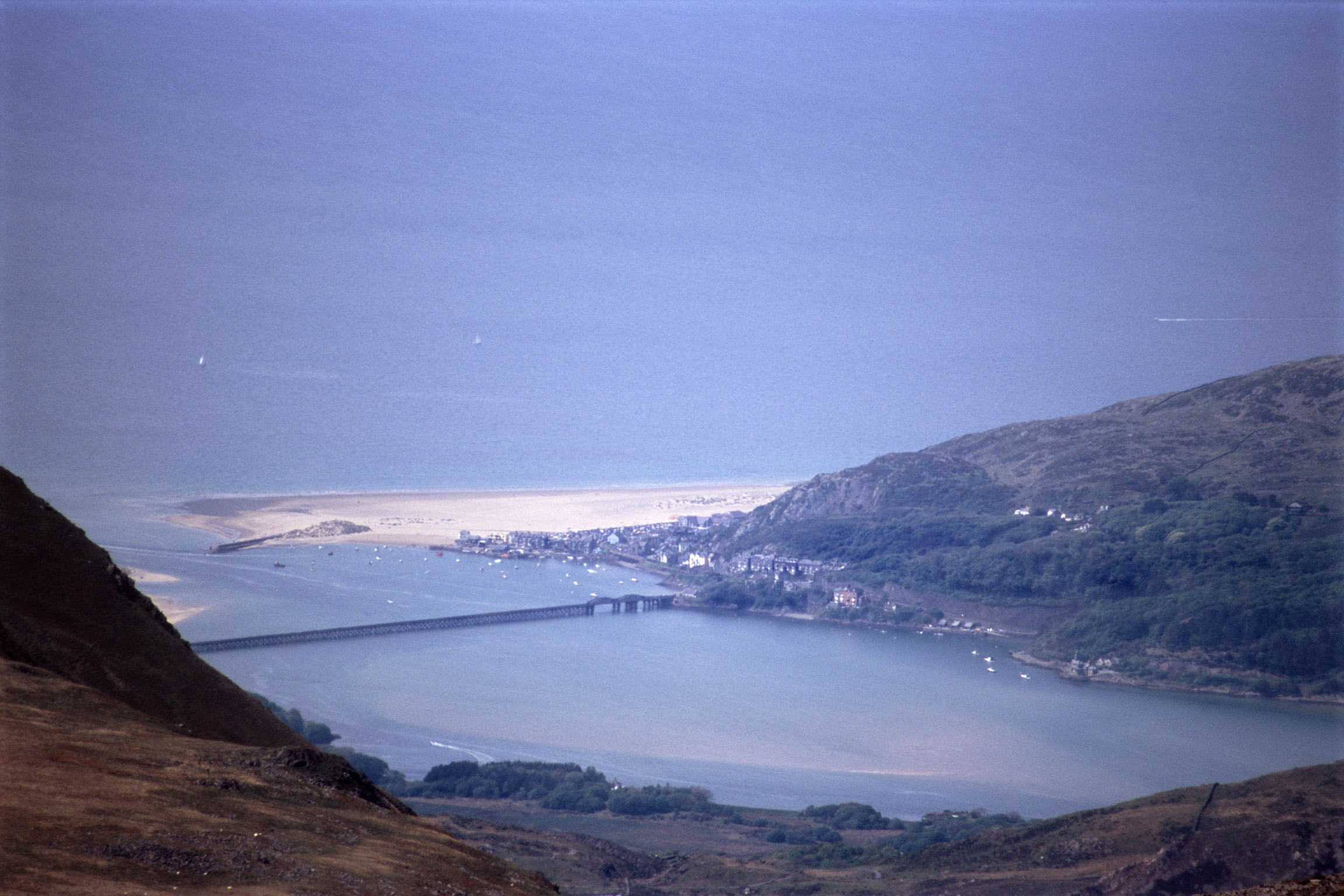 Overview of Coastal Barmouth in Wales