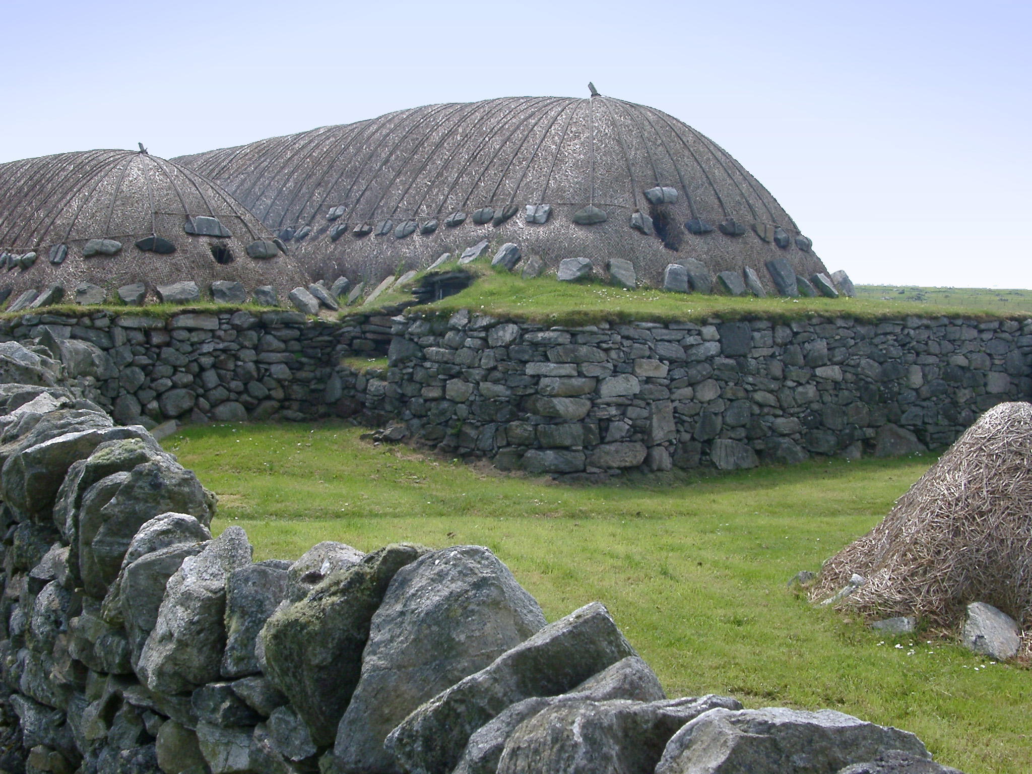 Traditional Historic Scottish Stone Blackhouse in Hebrides