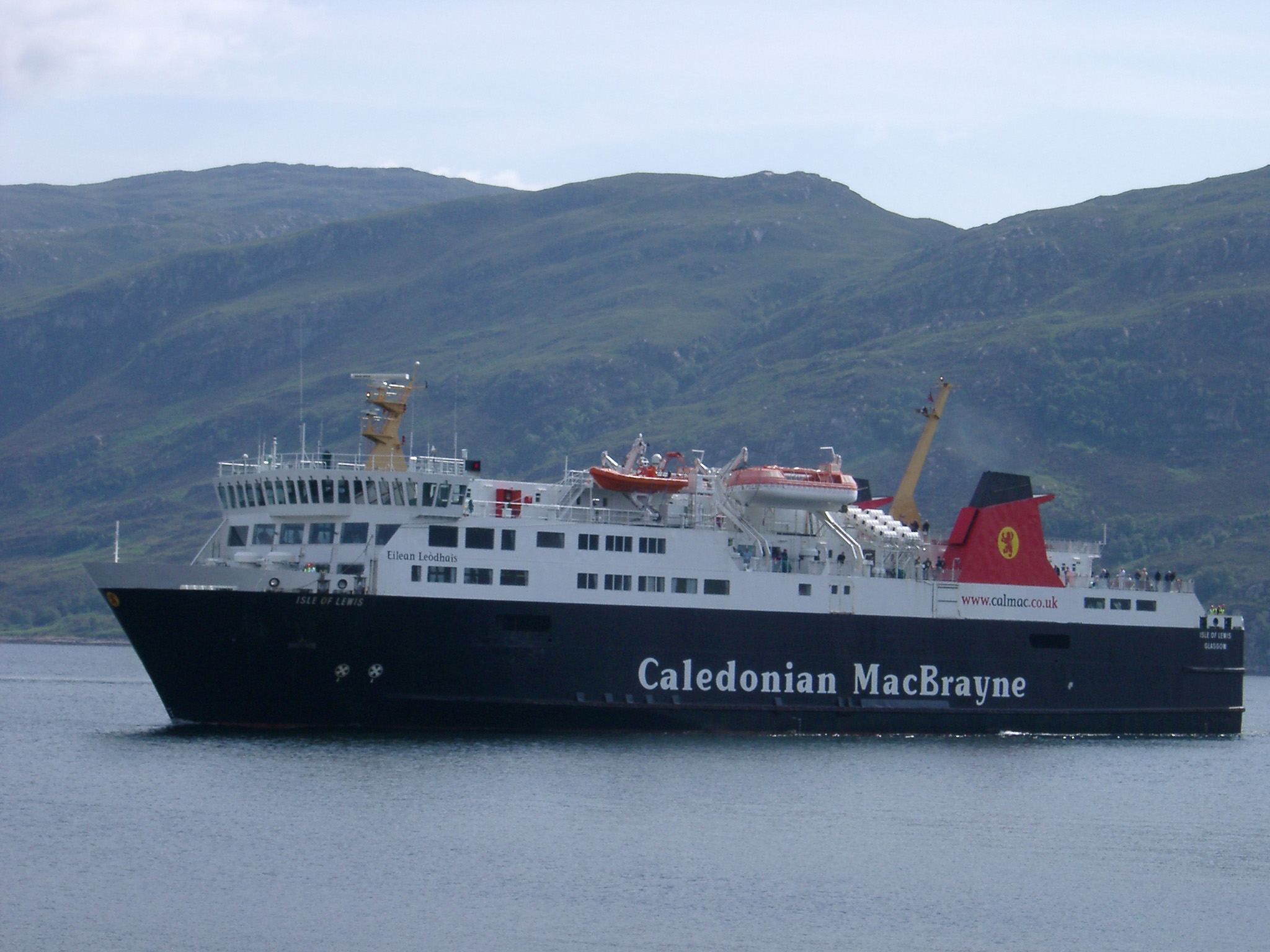 Ferry - the Caledonian MacBrayne, a Scottish ferry providing transport to the islands of the Hebrides