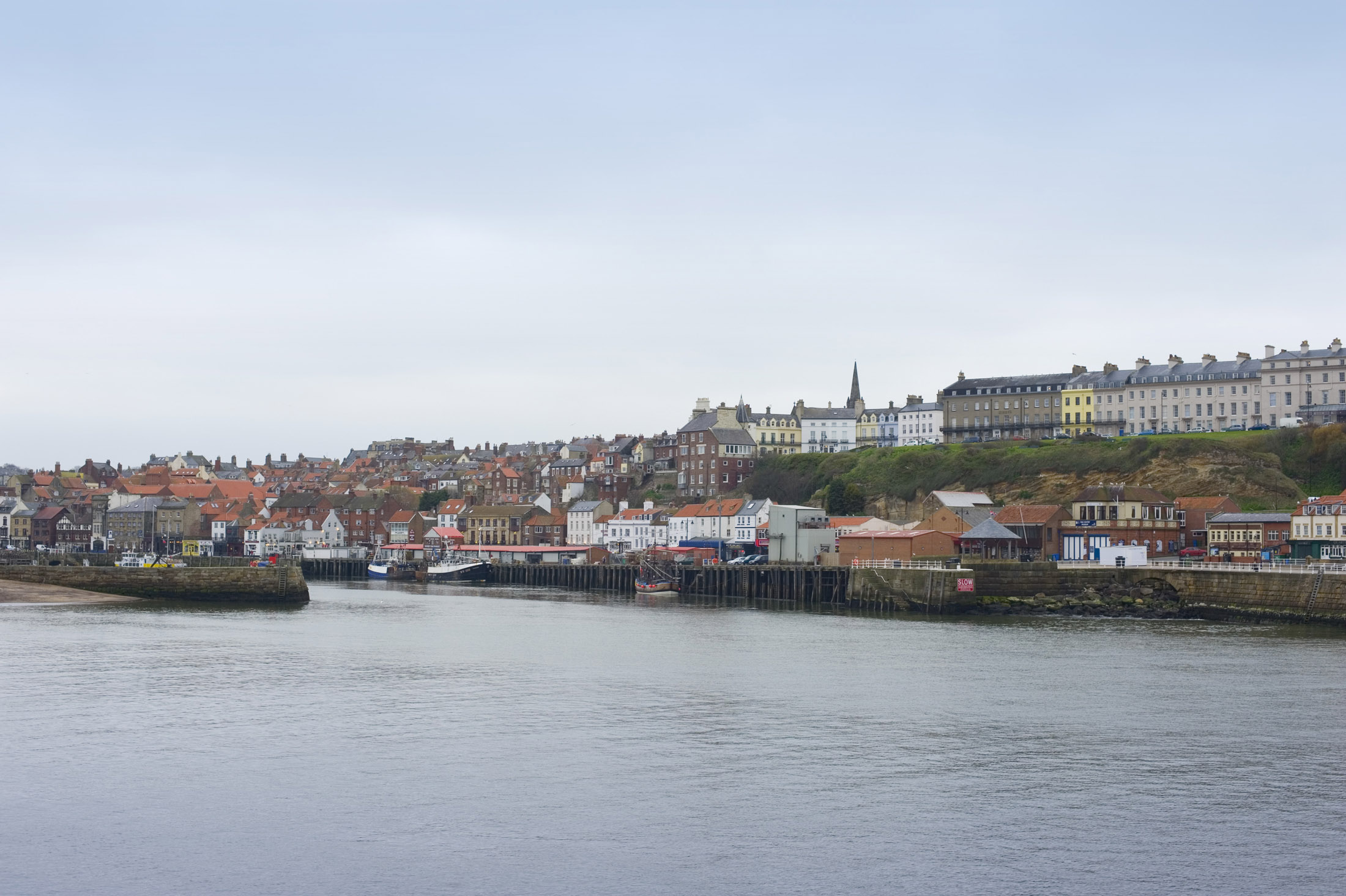 looking towards the western quayside and the fish markets from the east stone pier