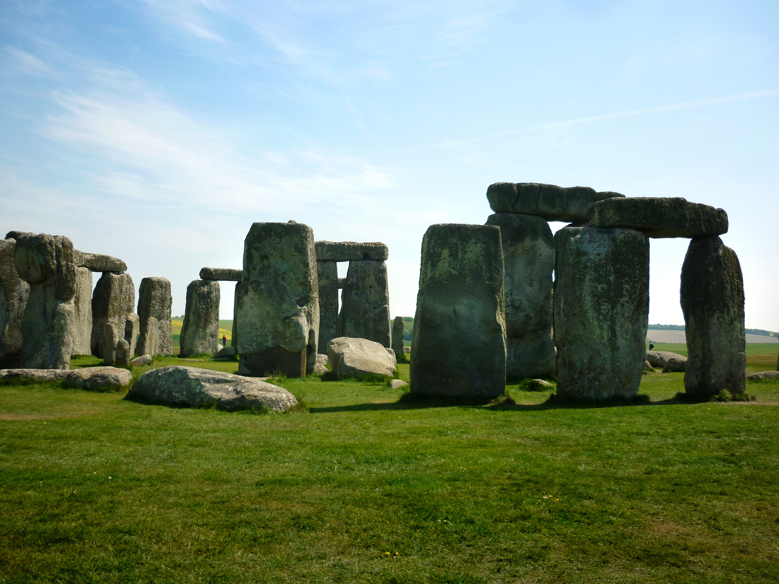 standing stones of the famous wiltshire landmark, stonehenge