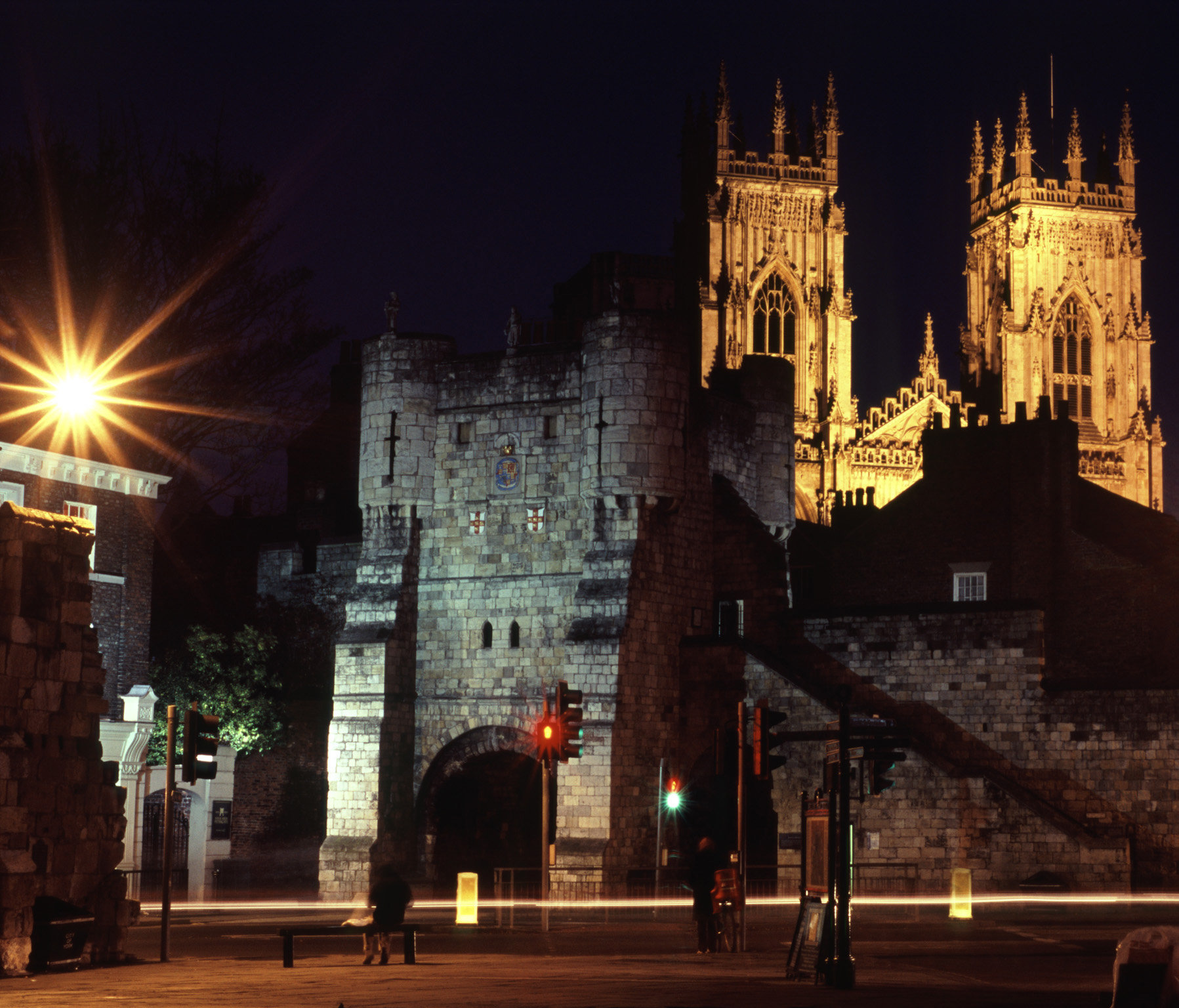 Famous Old York Minister Cathedral at York, England During Night Time