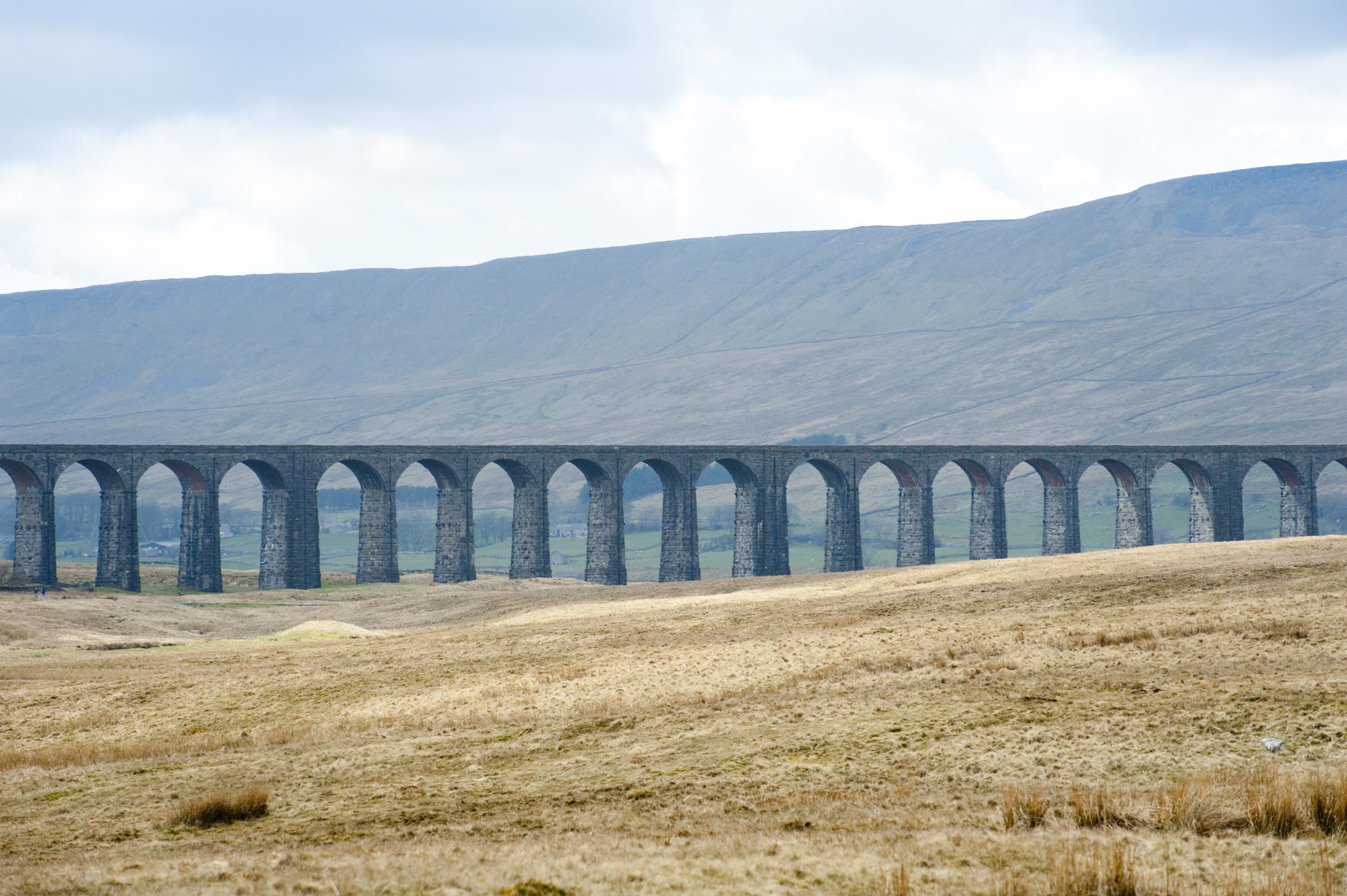some of the 24 arches that make up the ribble valley crossing on the settle to carlise railway