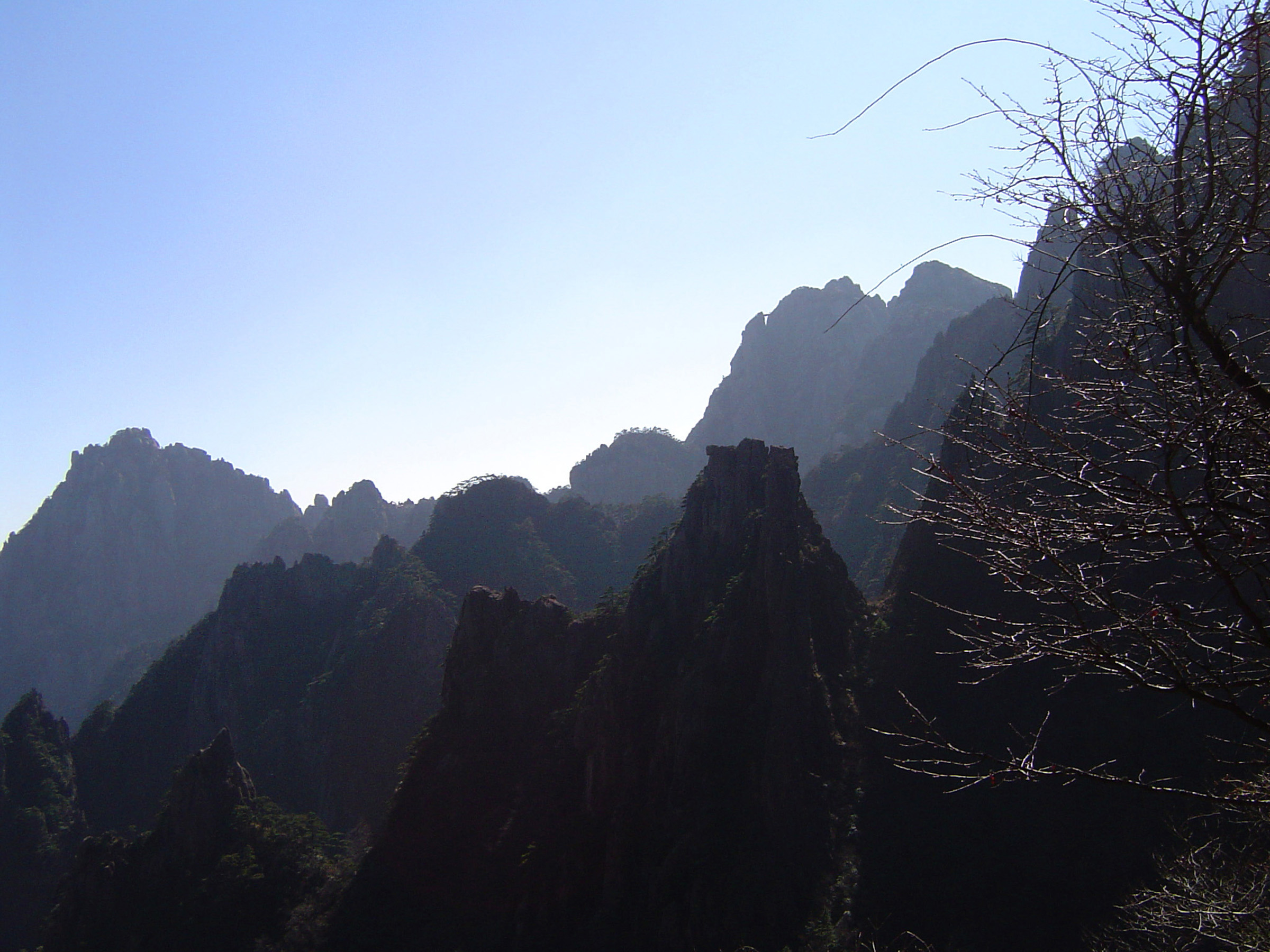 Free Stock photo of Huangshan Yellow Mountain Range in ...