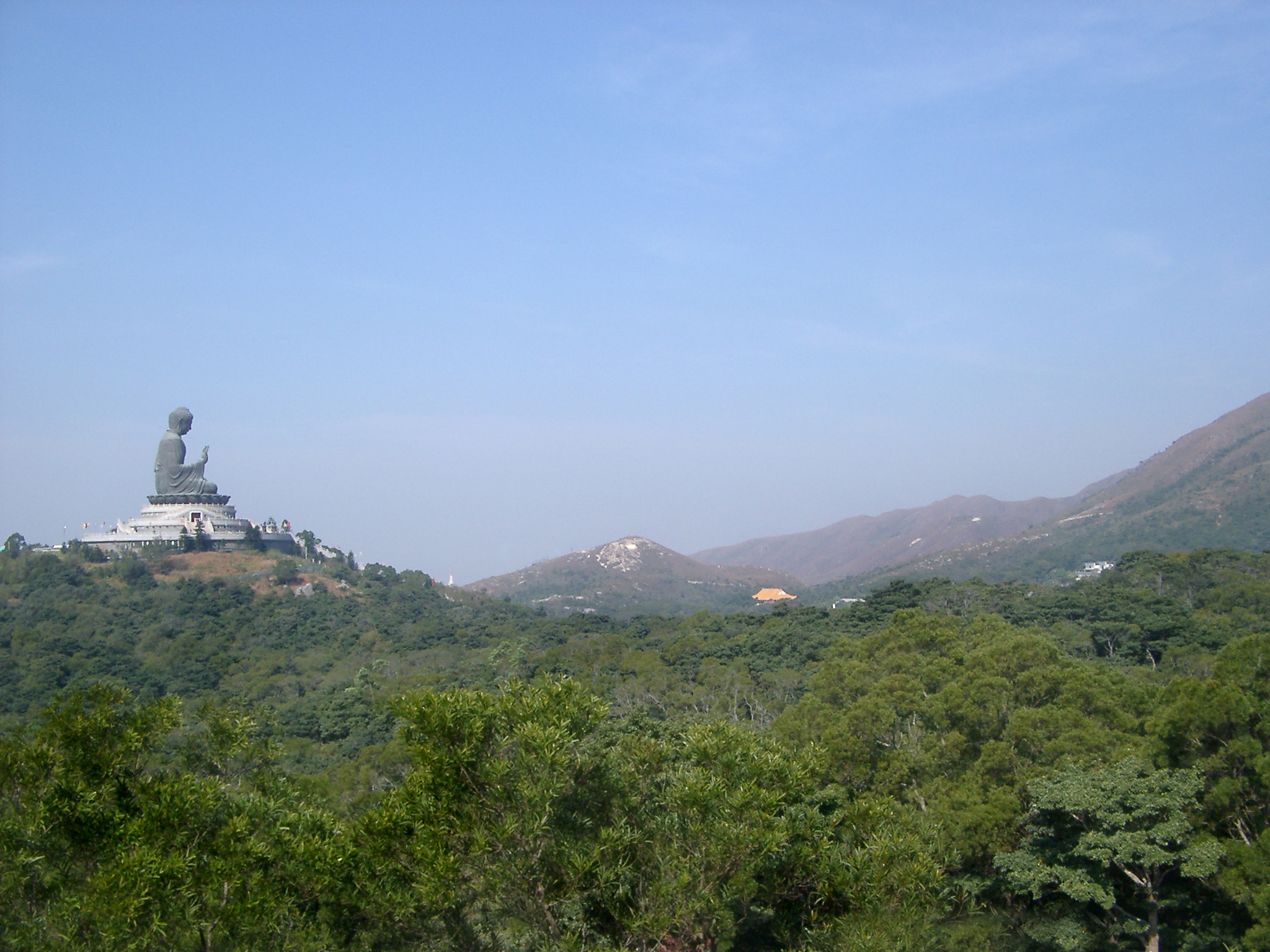Tian Tan Buddha, also known as the Big Buddha, is a large bronze statue of a Buddha Amoghasiddhi on Ngong Ping, Lantau Island, in Hong Kong.