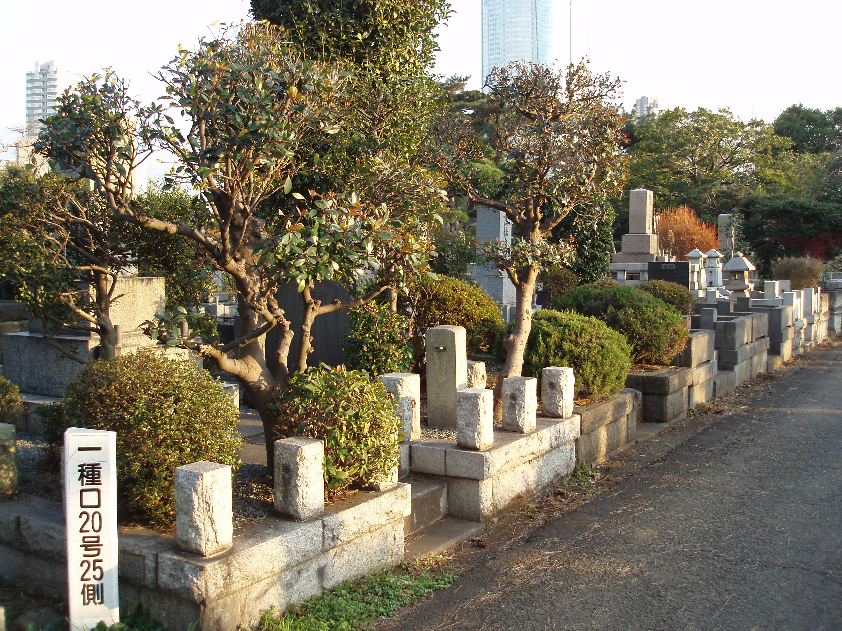 a traditonal japanese cemetery