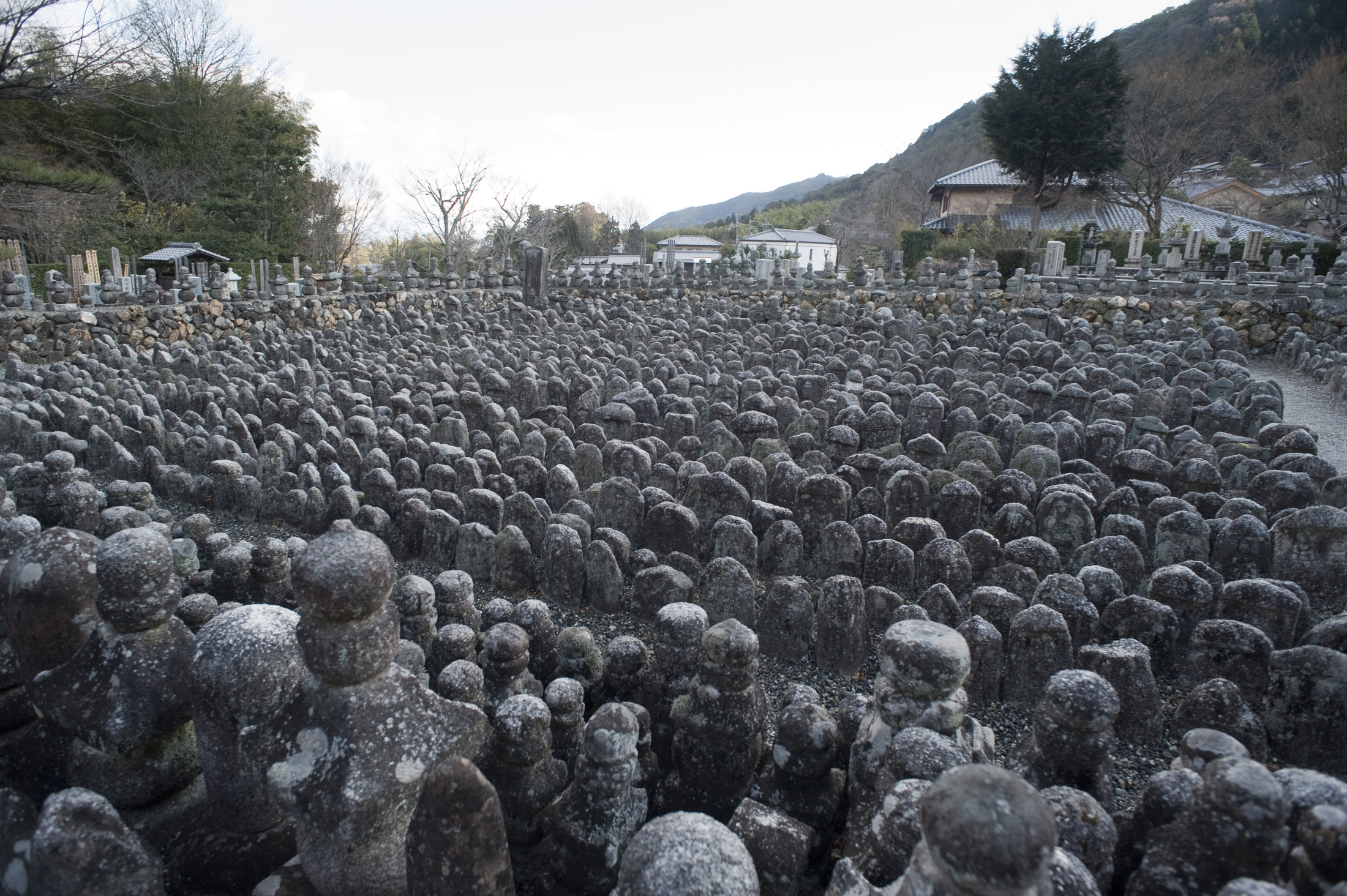 Buddhist statues, each representing an unknown or forgotten person, Adashino Nenbutsu-ji