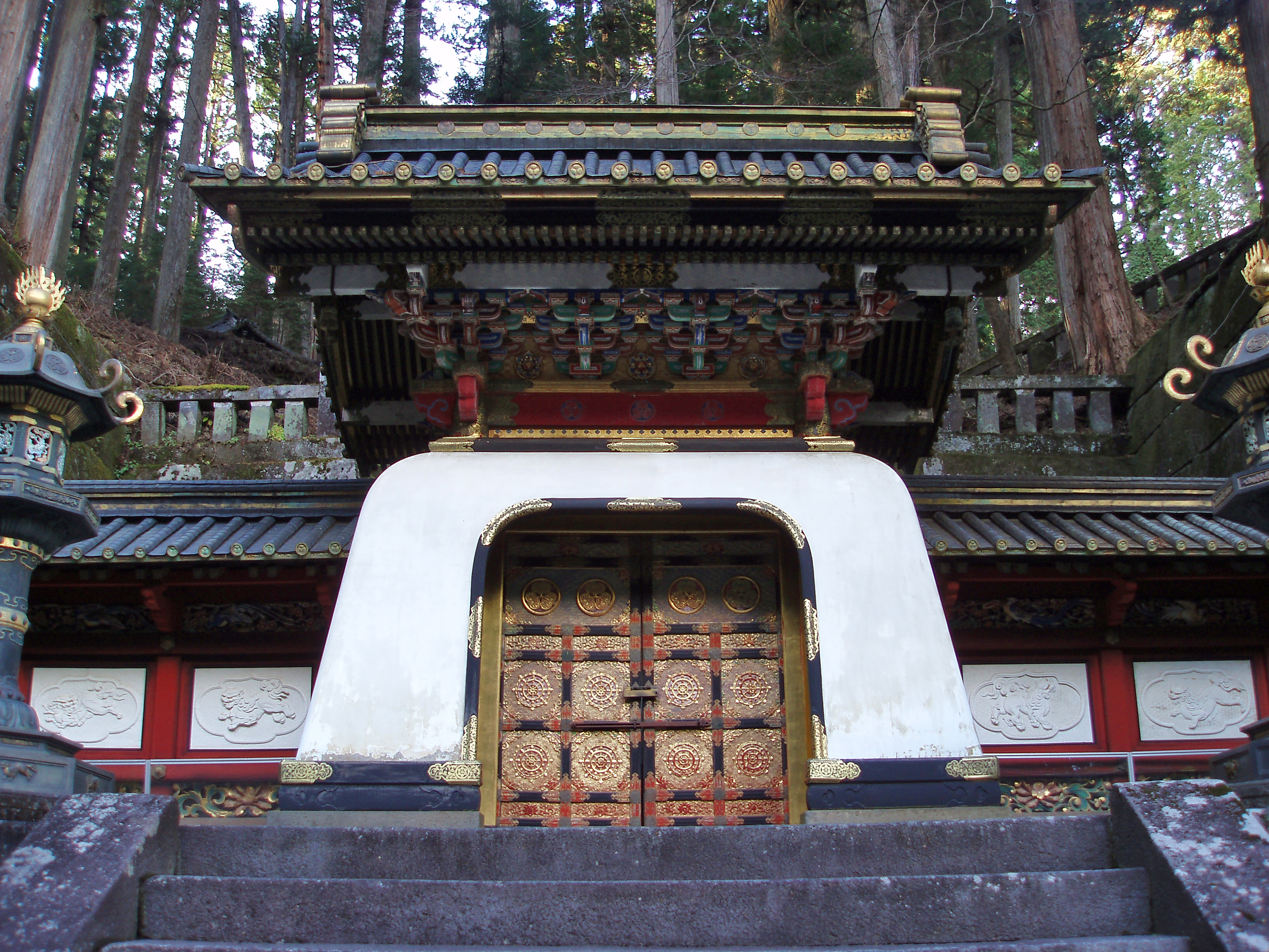 entrance door to the sacred temples at nikko