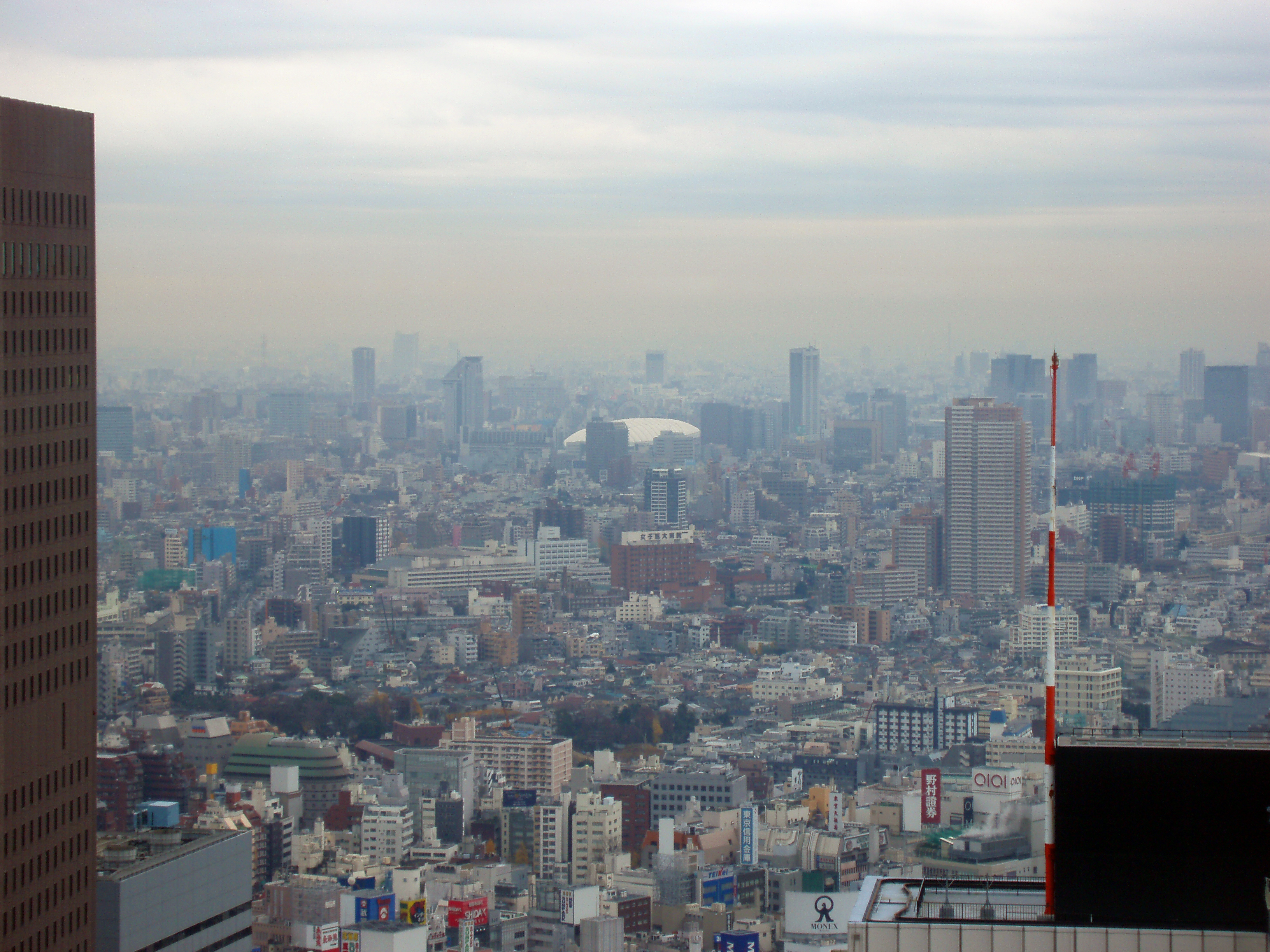 a sprawling panoramic view of buildings in metropolitan tokyo