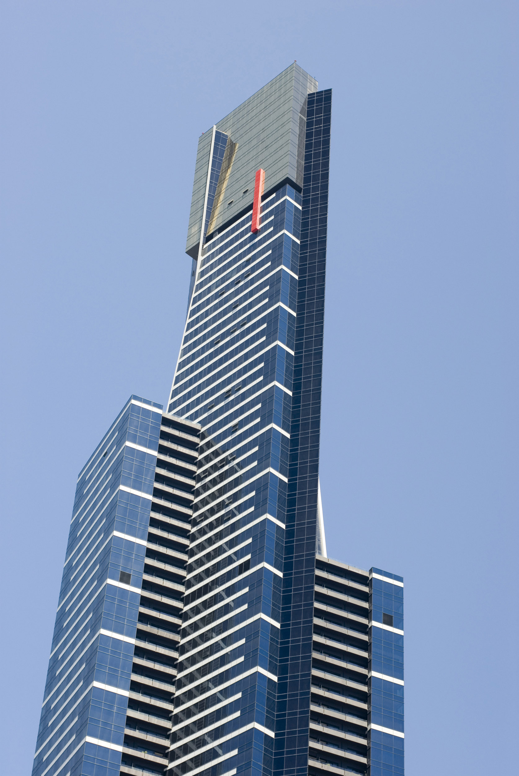Low angle view of Eureka Tower against clear sky, Melbourne, Australia