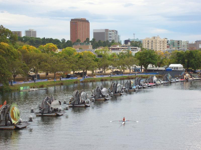 Boats on Parade at Yarra River in Melbourne by photoeverywhere.co.uk