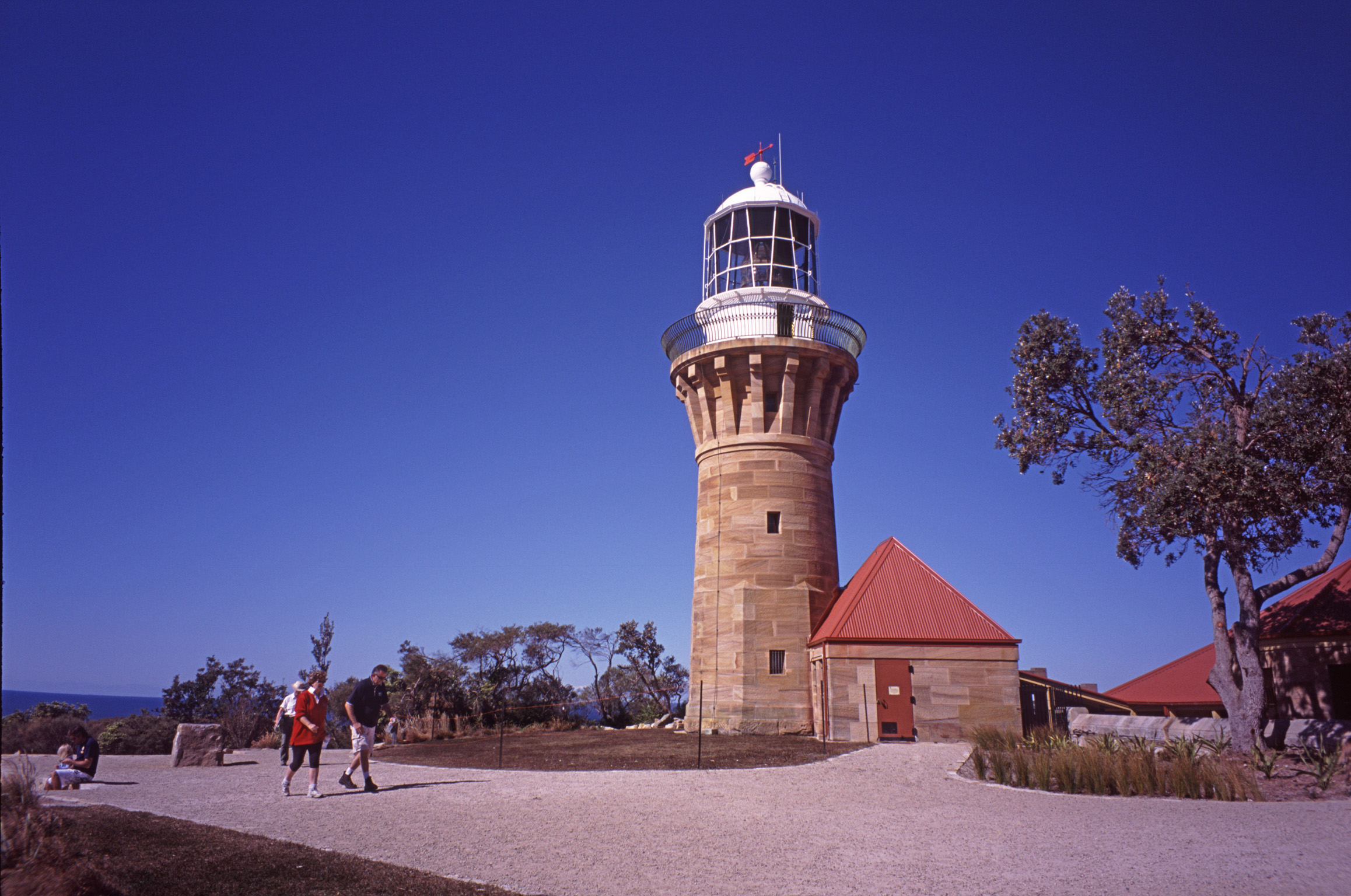 Barrenjoey Lighthouse, Palm Beach, New South Wales, Australia, a historic nineteenth century lighthouse on the headland at Pittwater