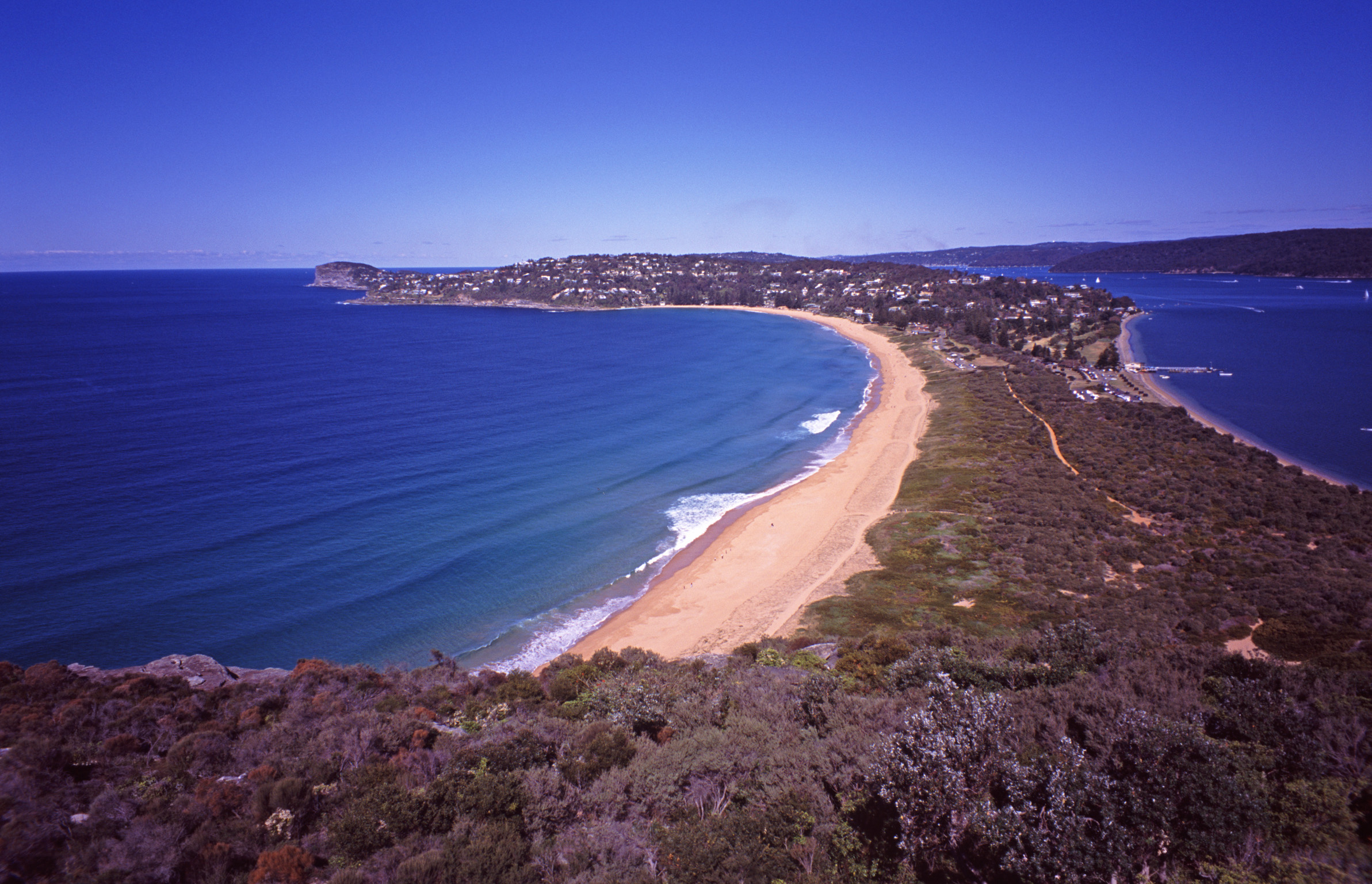 Scenic Overview of Barrenjoey Head and Palm Beach, New South Wales, Australia