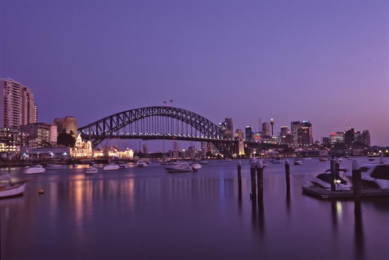 Sydney Harbour Bridge at Night Time by photoeverywhere.co.uk